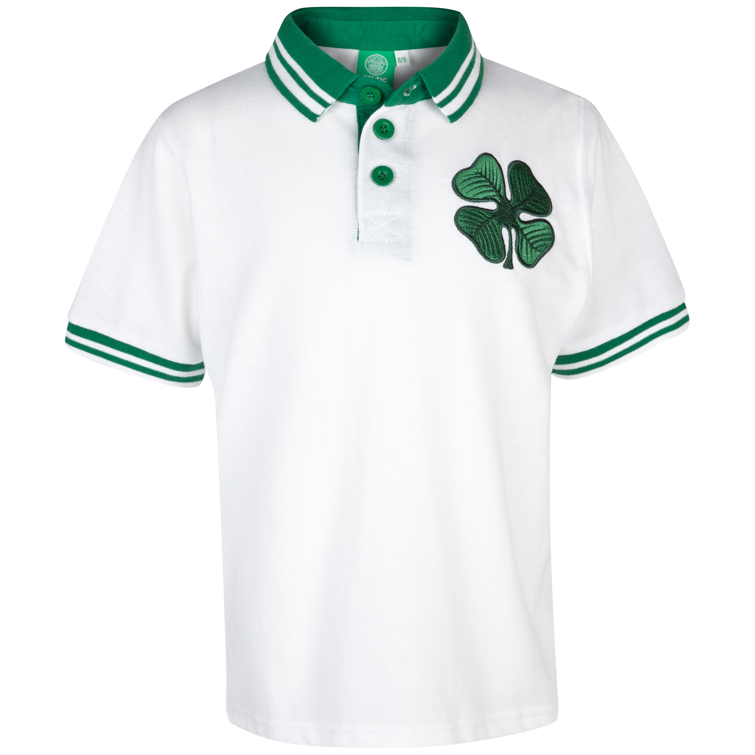 Celtic Essentials Clover Polo - White - Boys