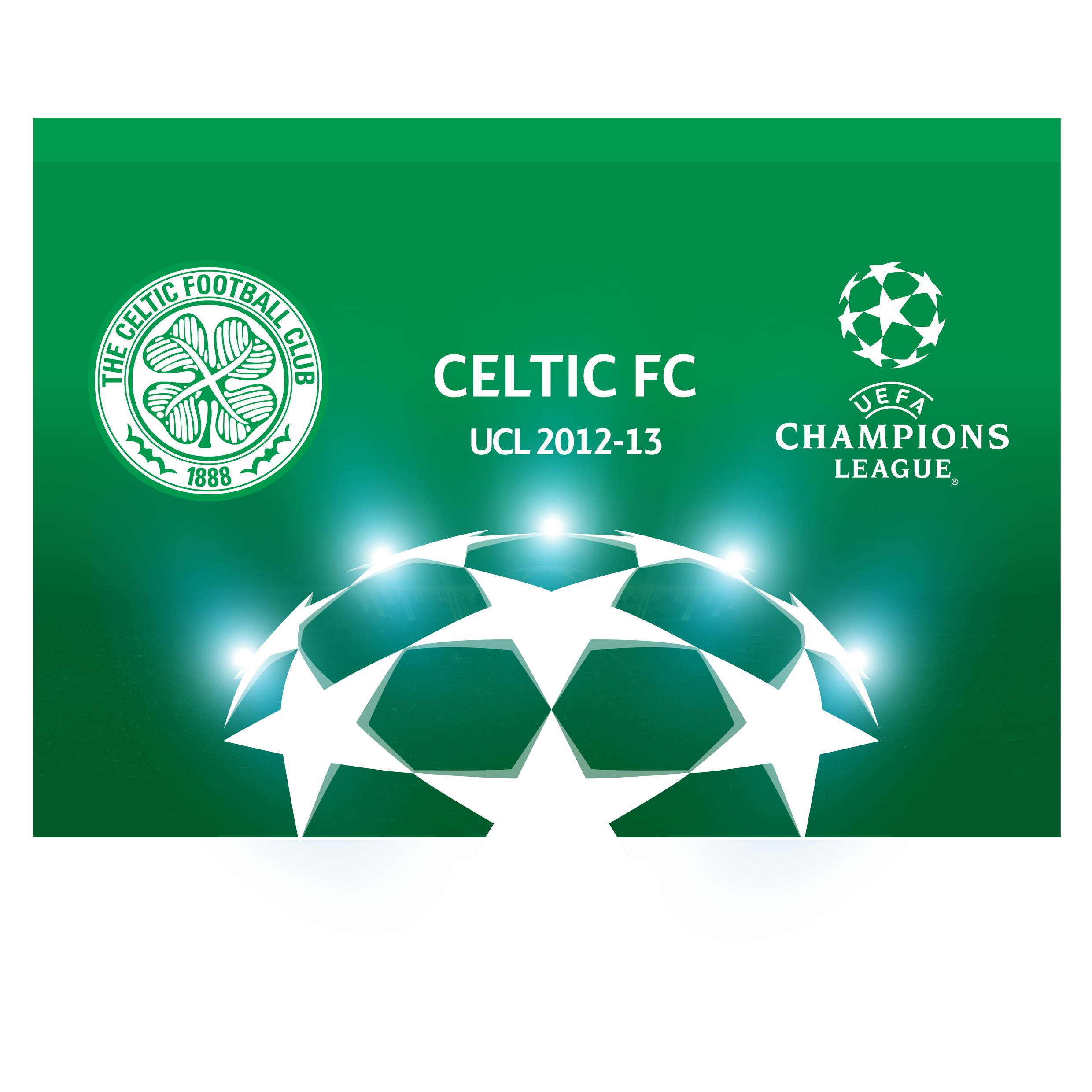 Celtic UEFA Champions League Flag - 96 x 66cm