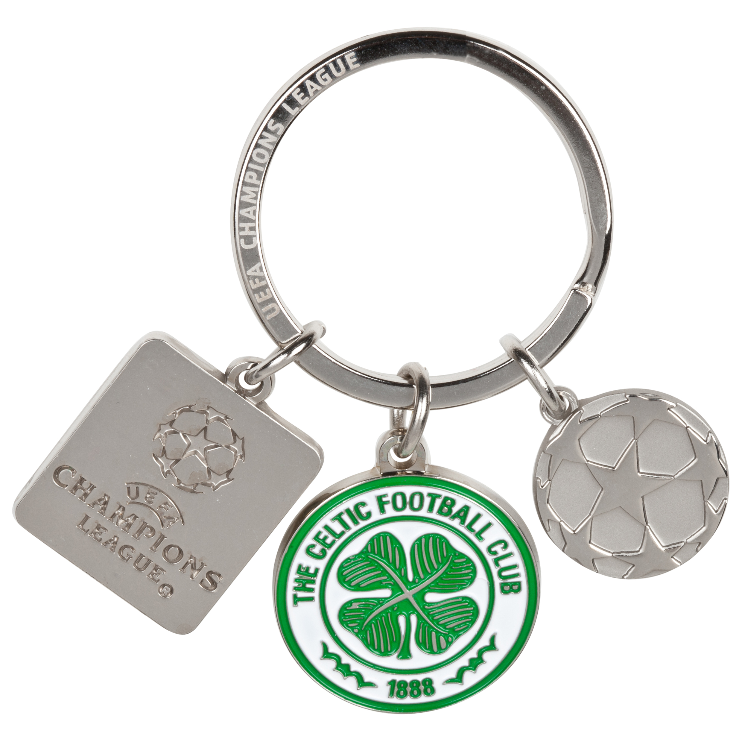 Celtic UEFA Champions League Charm Keyring