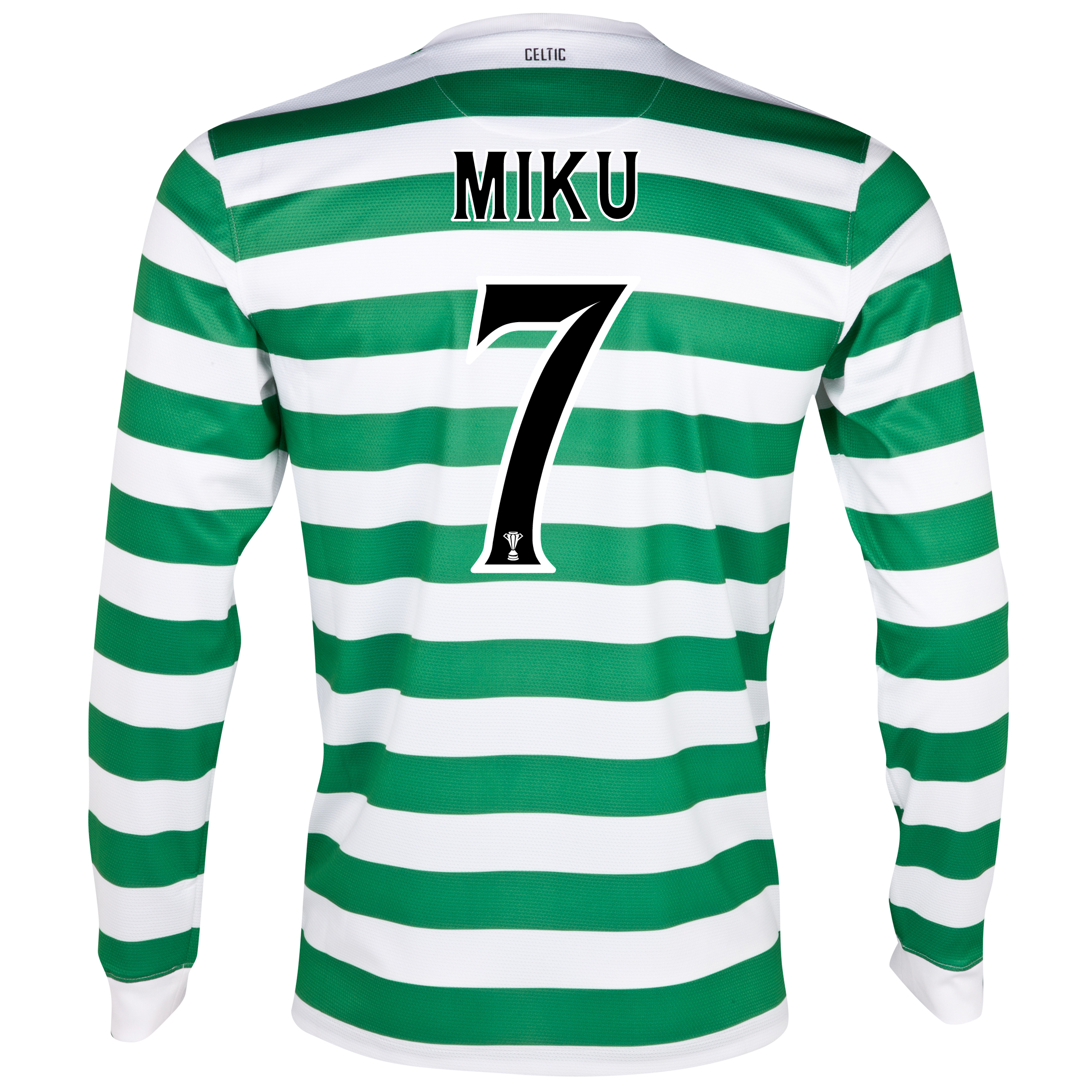 Celtic Home Shirt 2012/13 - Long Sleeved with Miku 7 printing