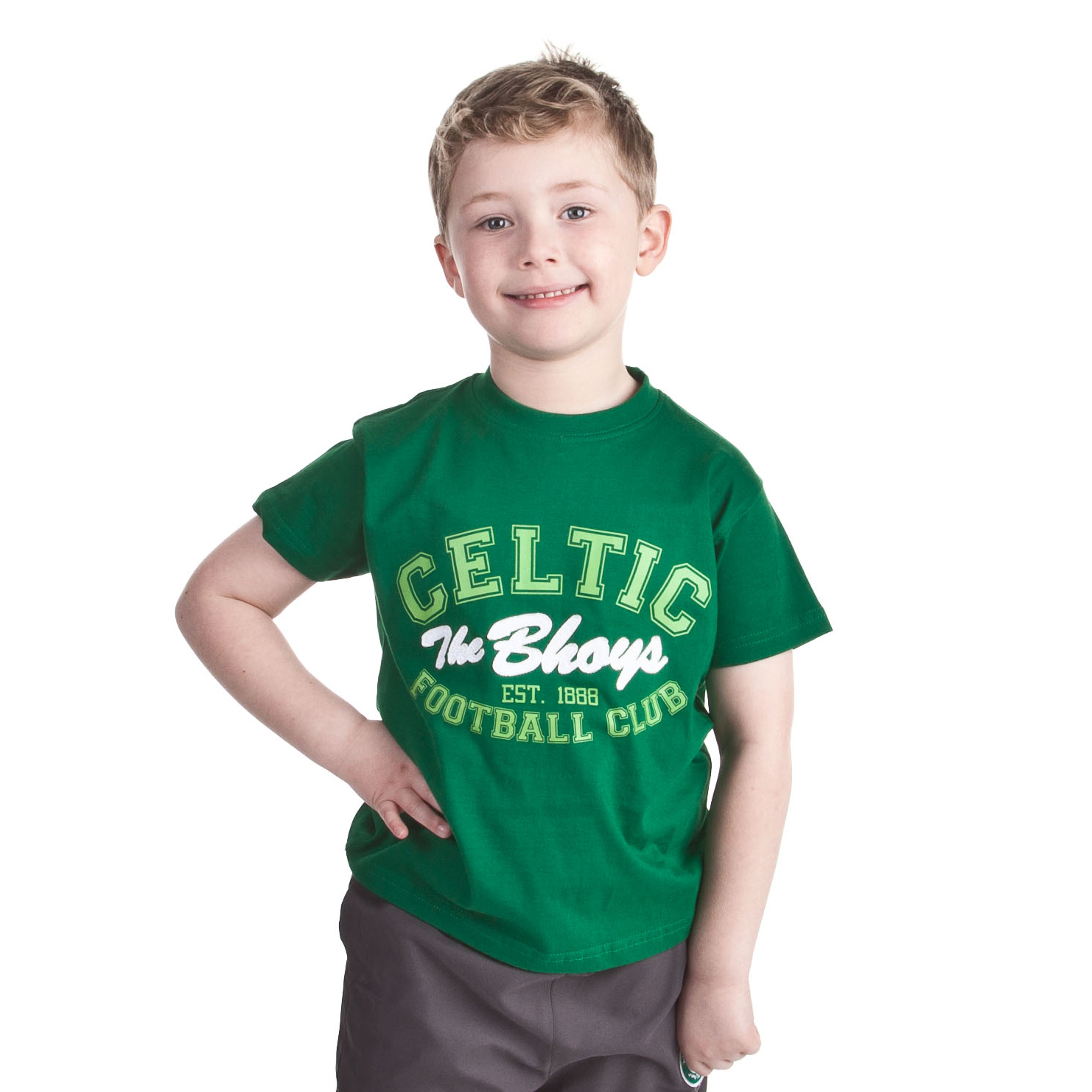 Celtic Applique Graphic T-Shirt - Green - Boys