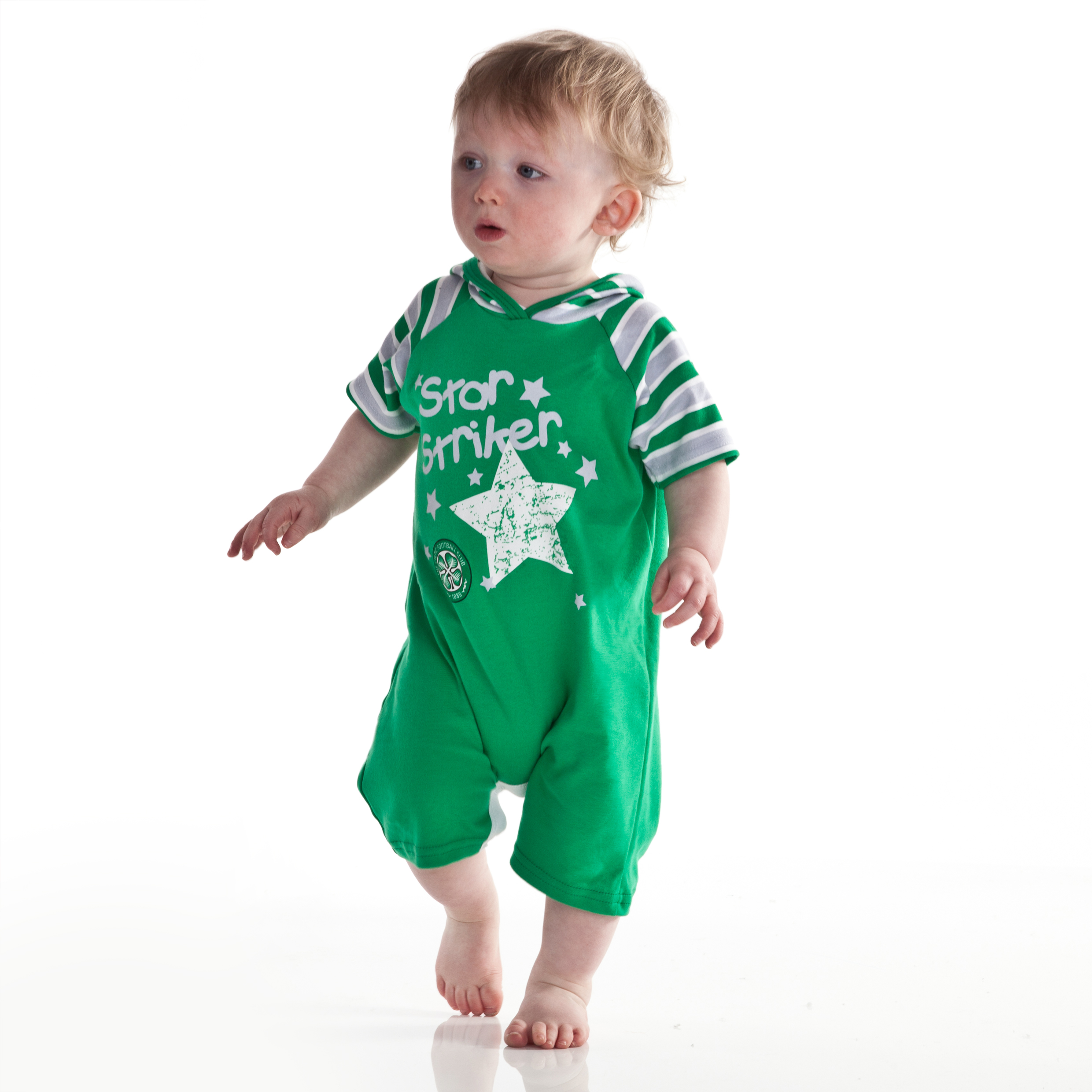 Celtic Hooded Romper - Green - Baby Boys