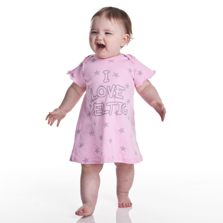 Celtic Star Print Dress - Pink - Baby Girls