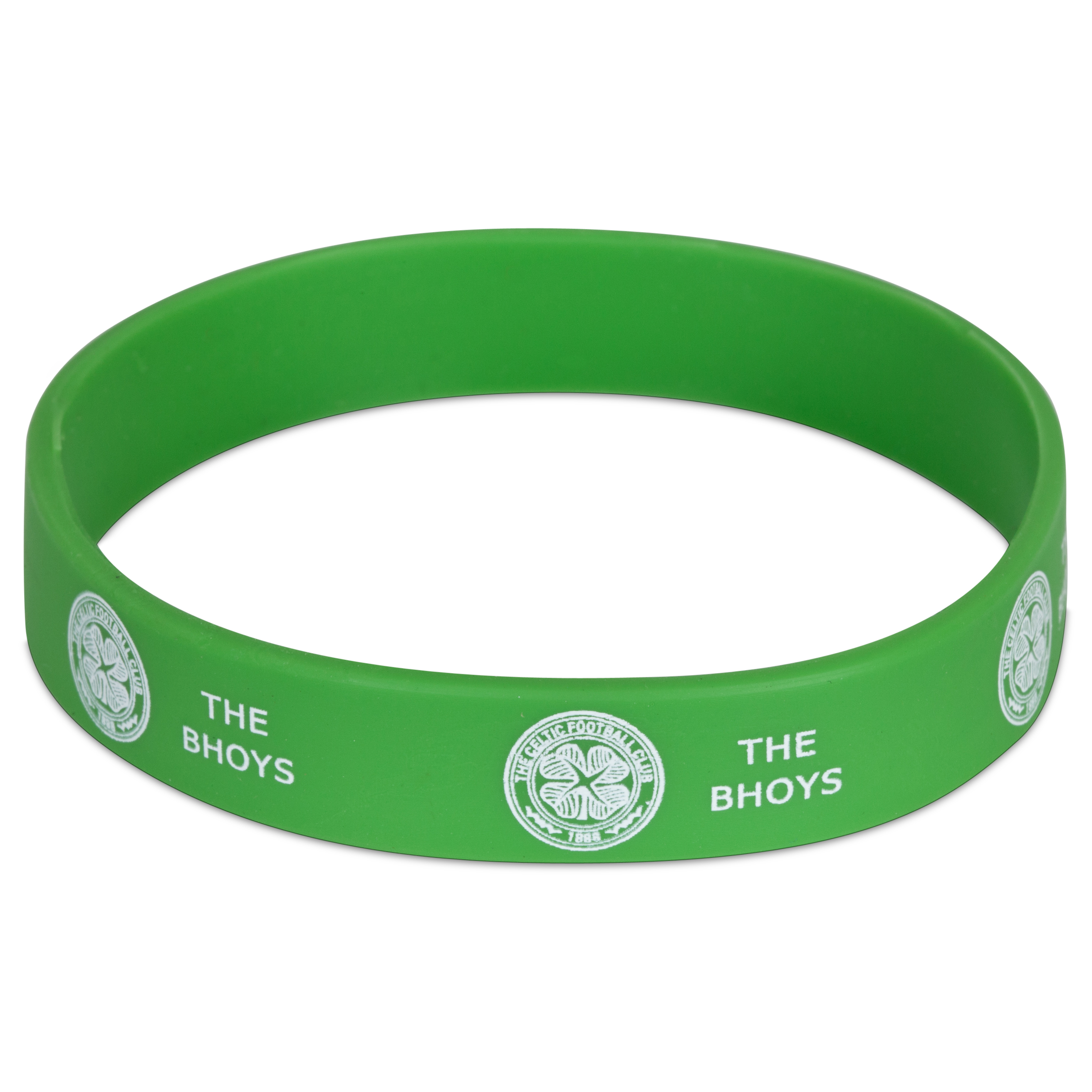 Image of Celtic Rubber Wristband - 12mm Width, White