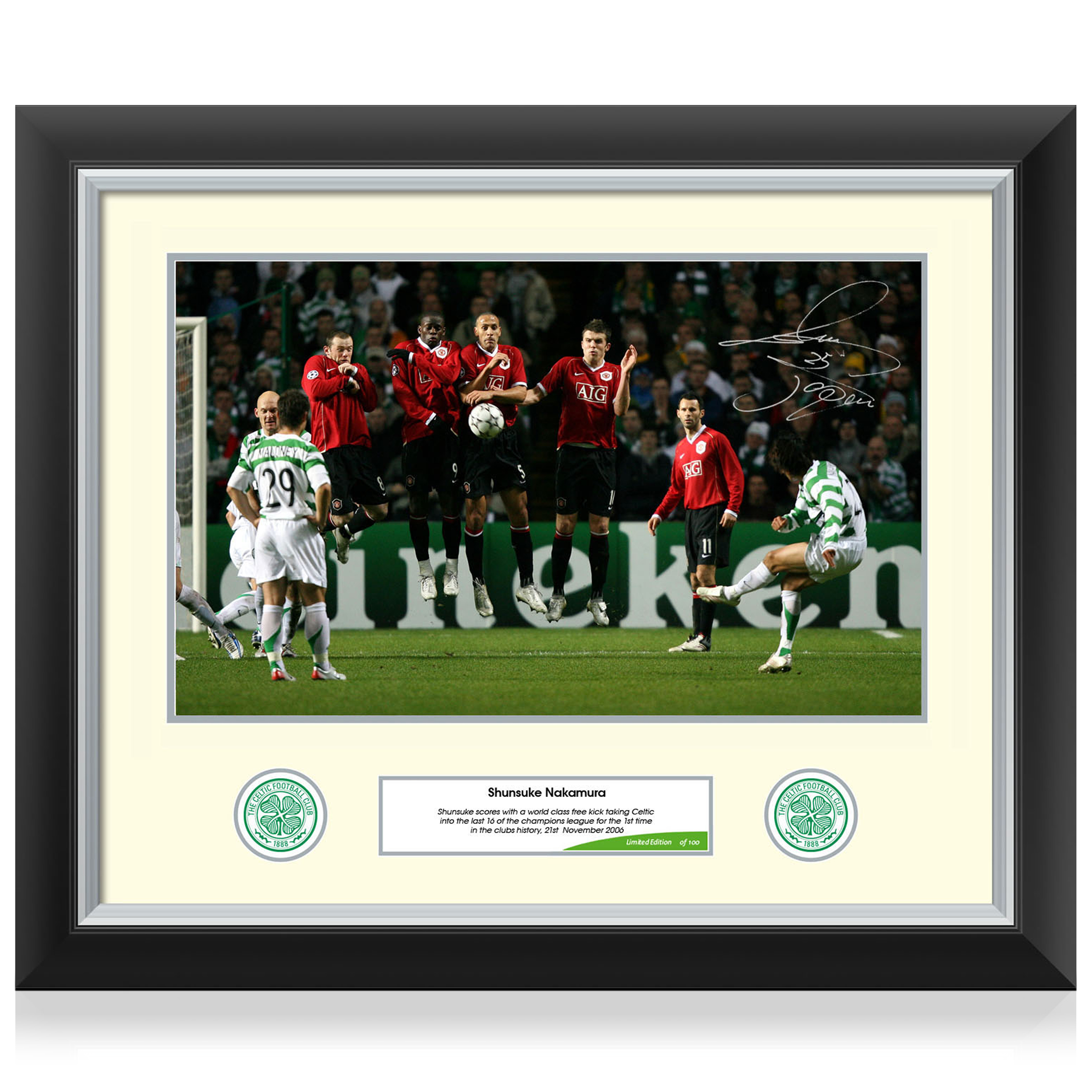 Celtic Limited Edition Nakamura Signed Print - Framed