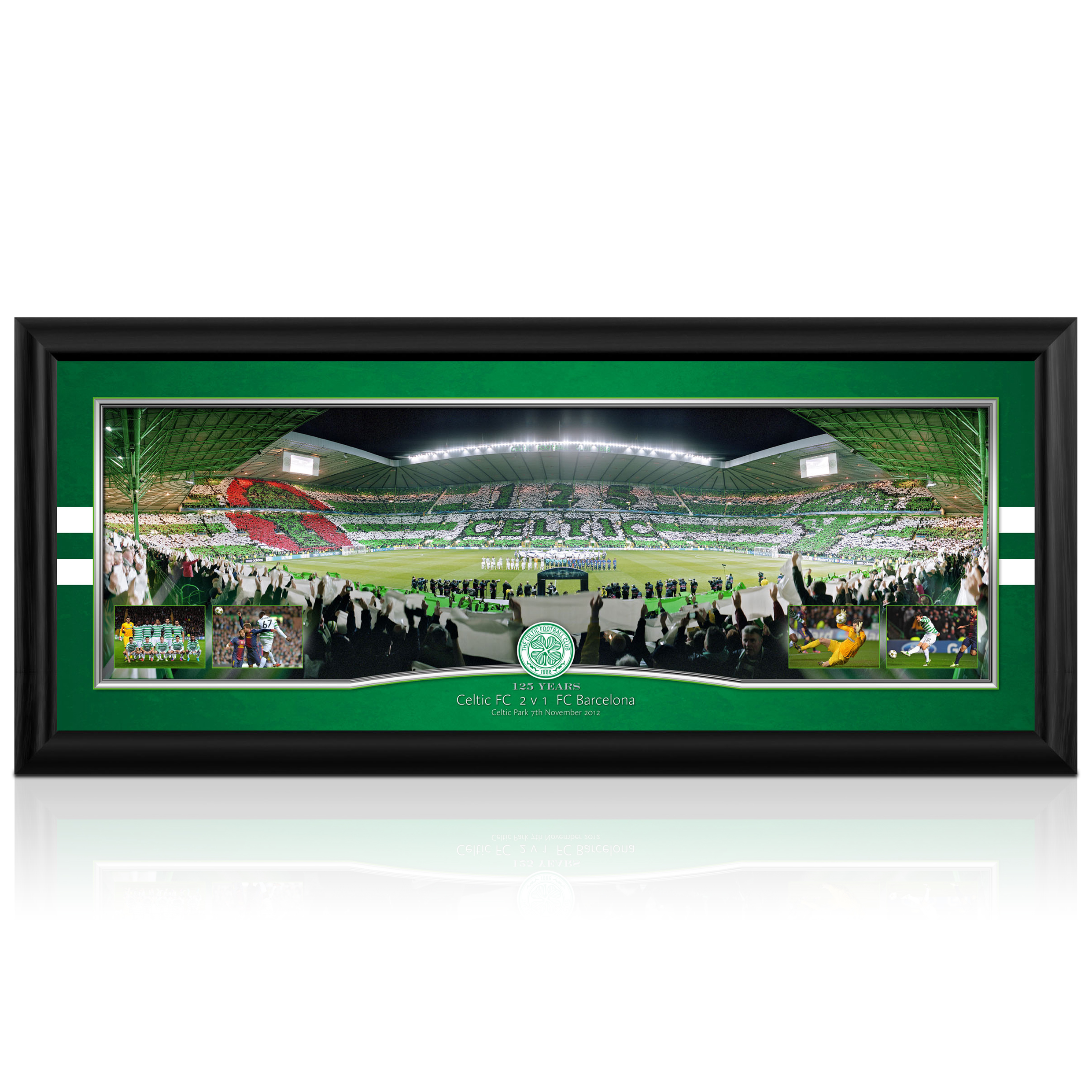 Celtic v Barcelona Panoramic Stadium Image - Framed