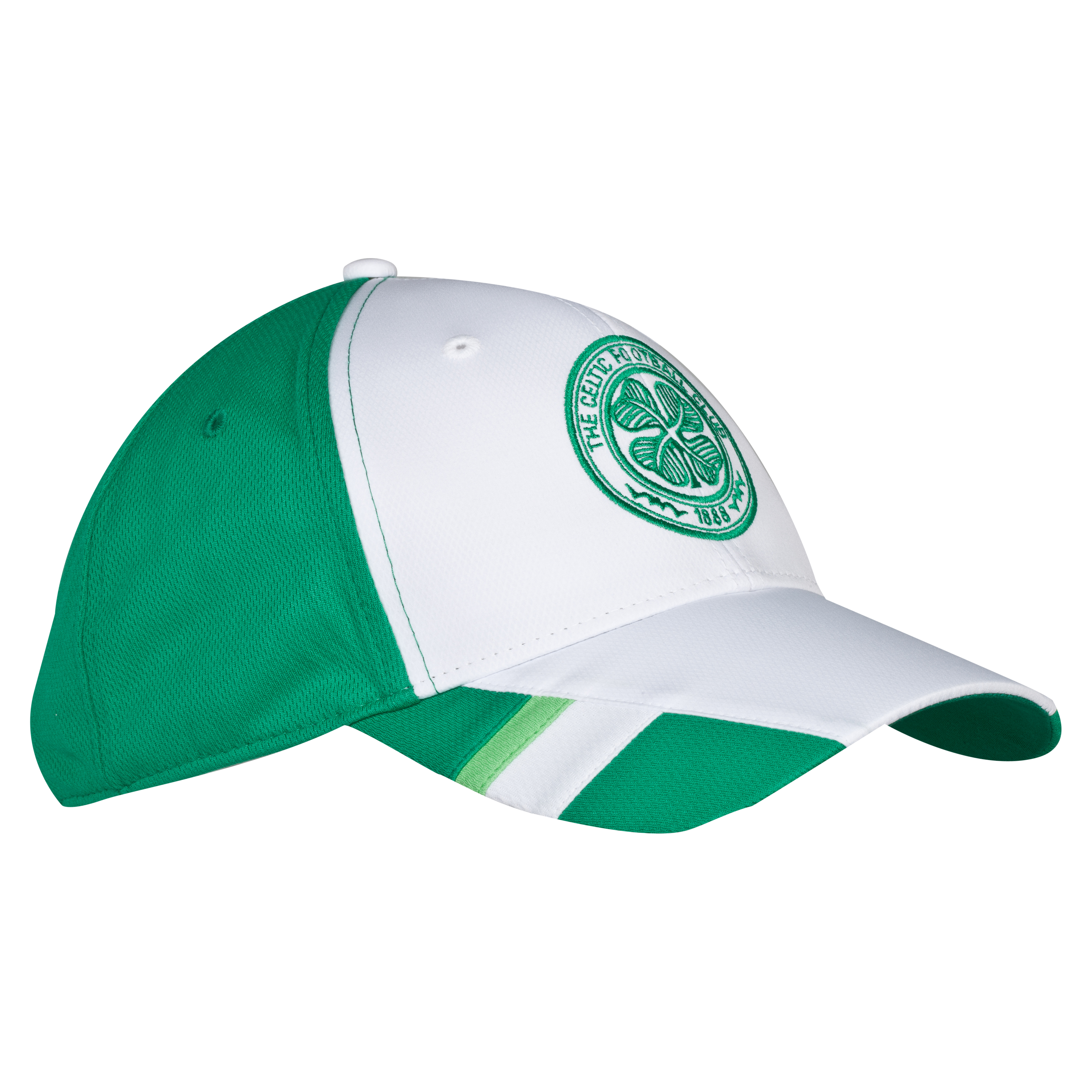 Celtic Contrast Sports Cap - White/Green - Adult
