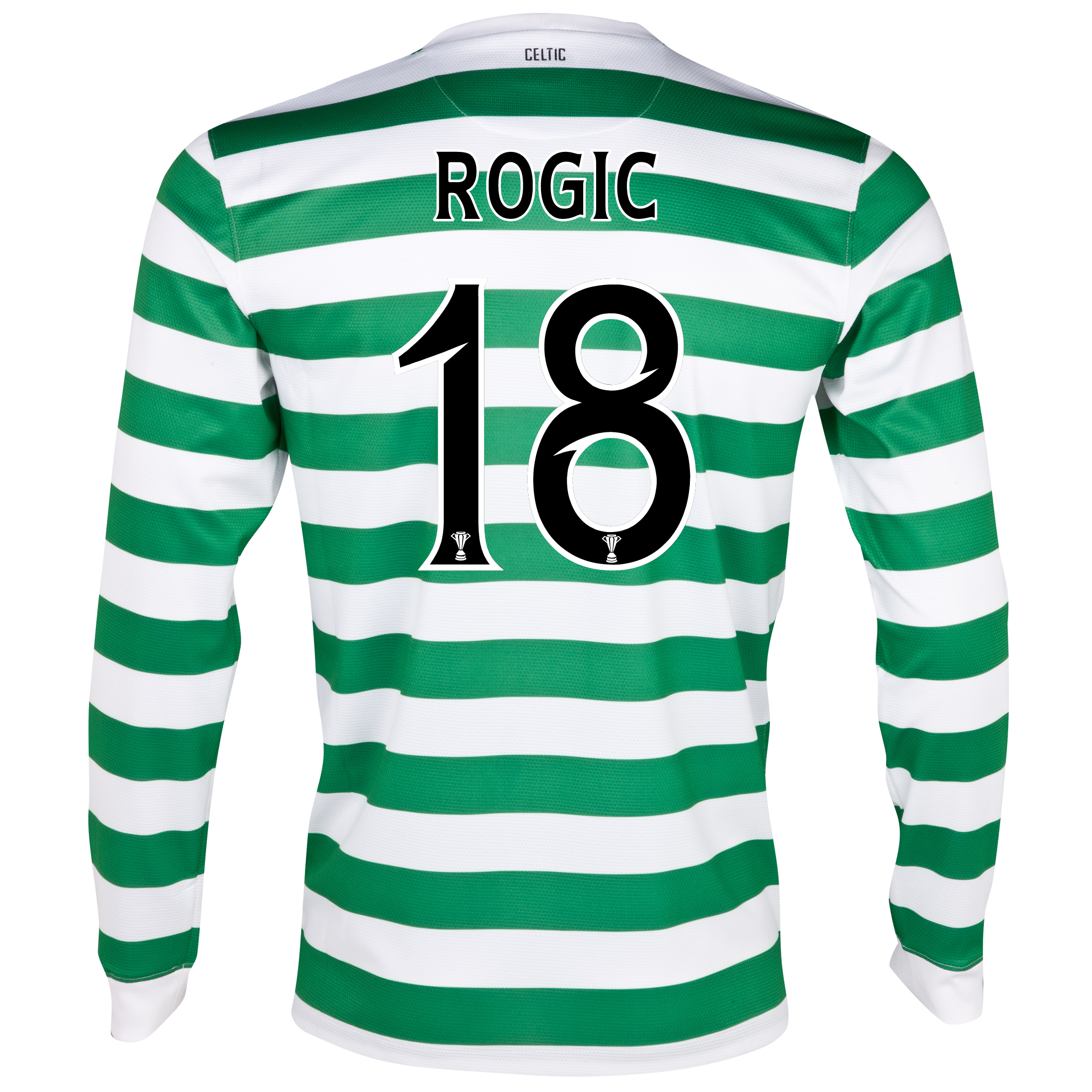 Celtic Home Shirt 2012/13 - Long Sleeved - No Sponsor with Rogic 18 printing