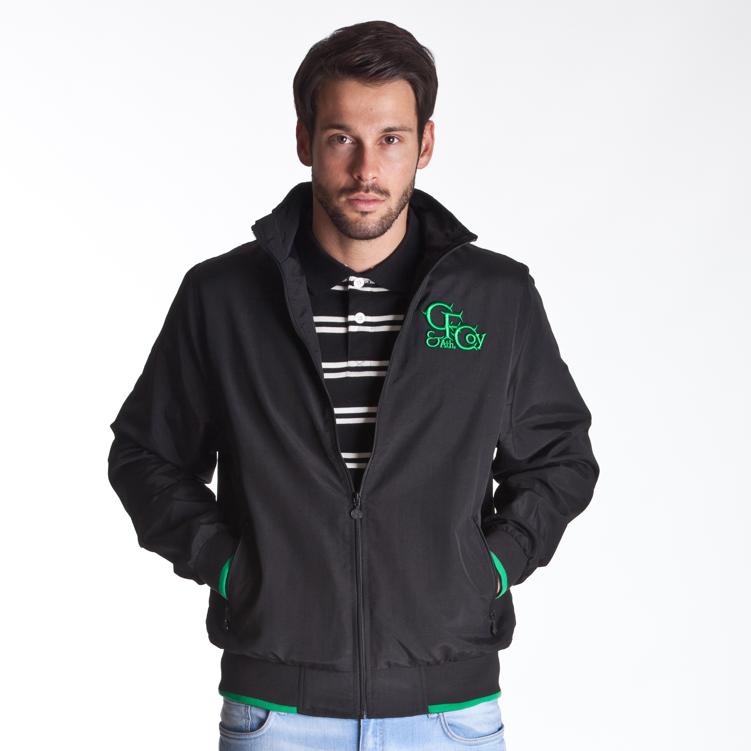 Celtic Heritage Bomber jacket  - Mens Black