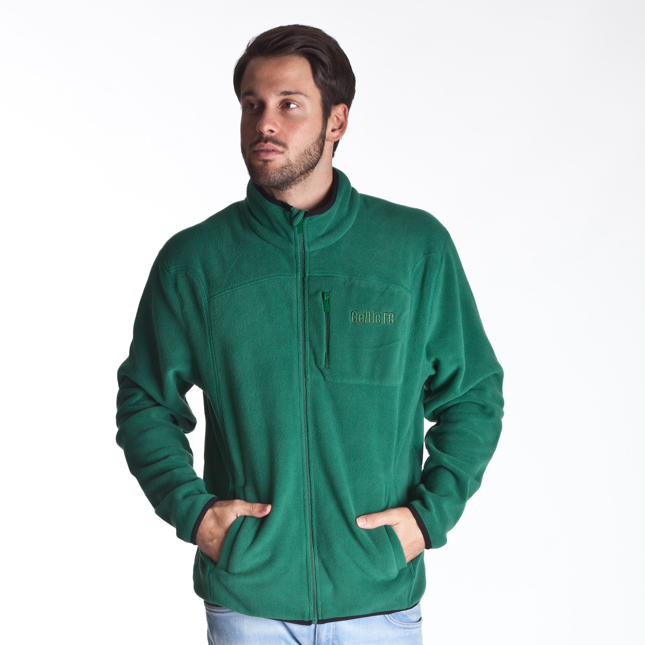 Celtic Essentials Full Zip Fleece - Mens Dk Green