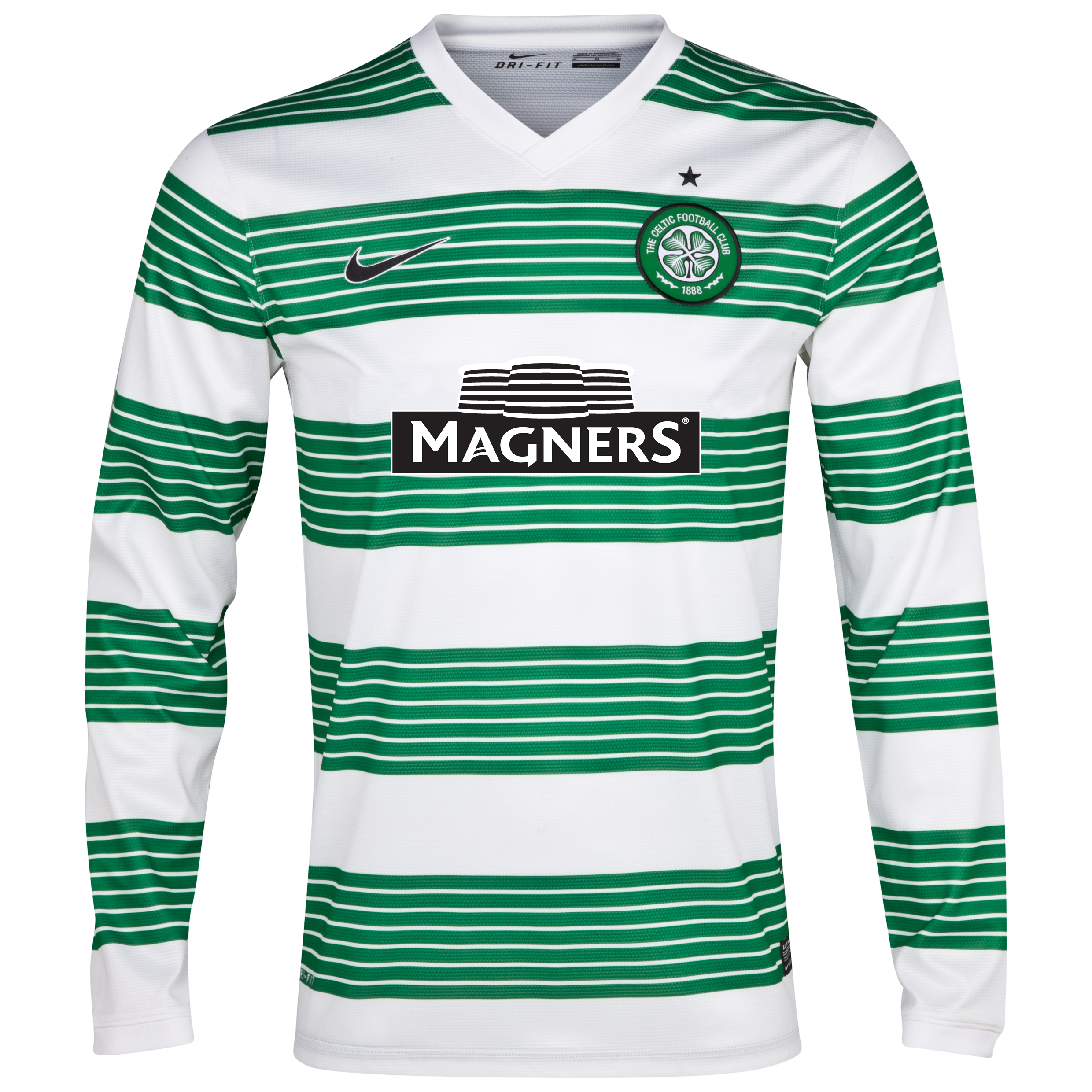 Celtic Home Shirt 2013/15 - L/S- With Sponsor