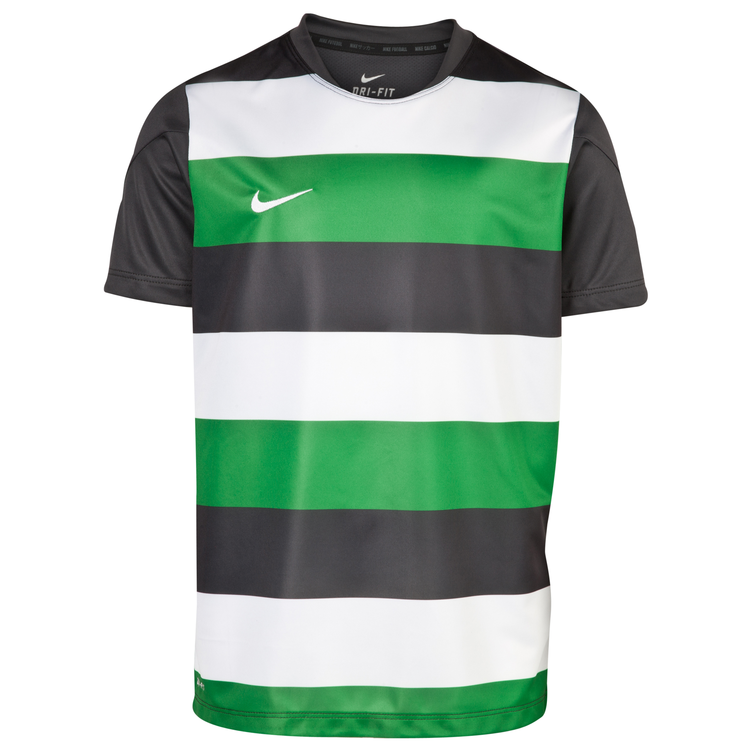 Celtic Short Sleeve Pre Match Top - Green/White - Kids Green