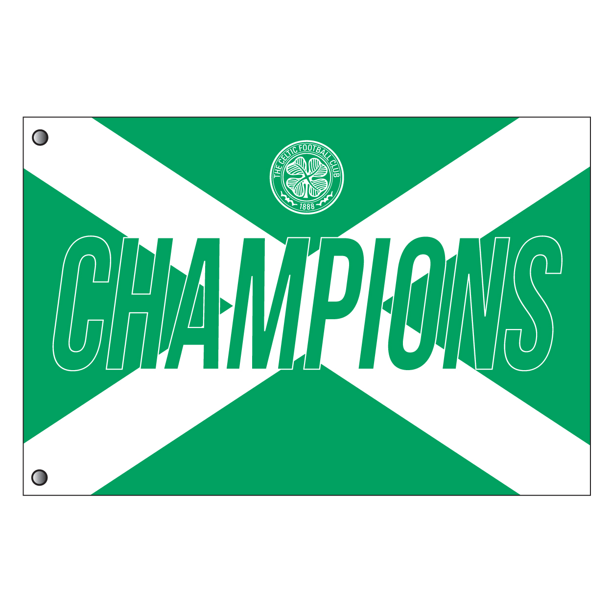 Celtic Champions Flag - 5 x 3
