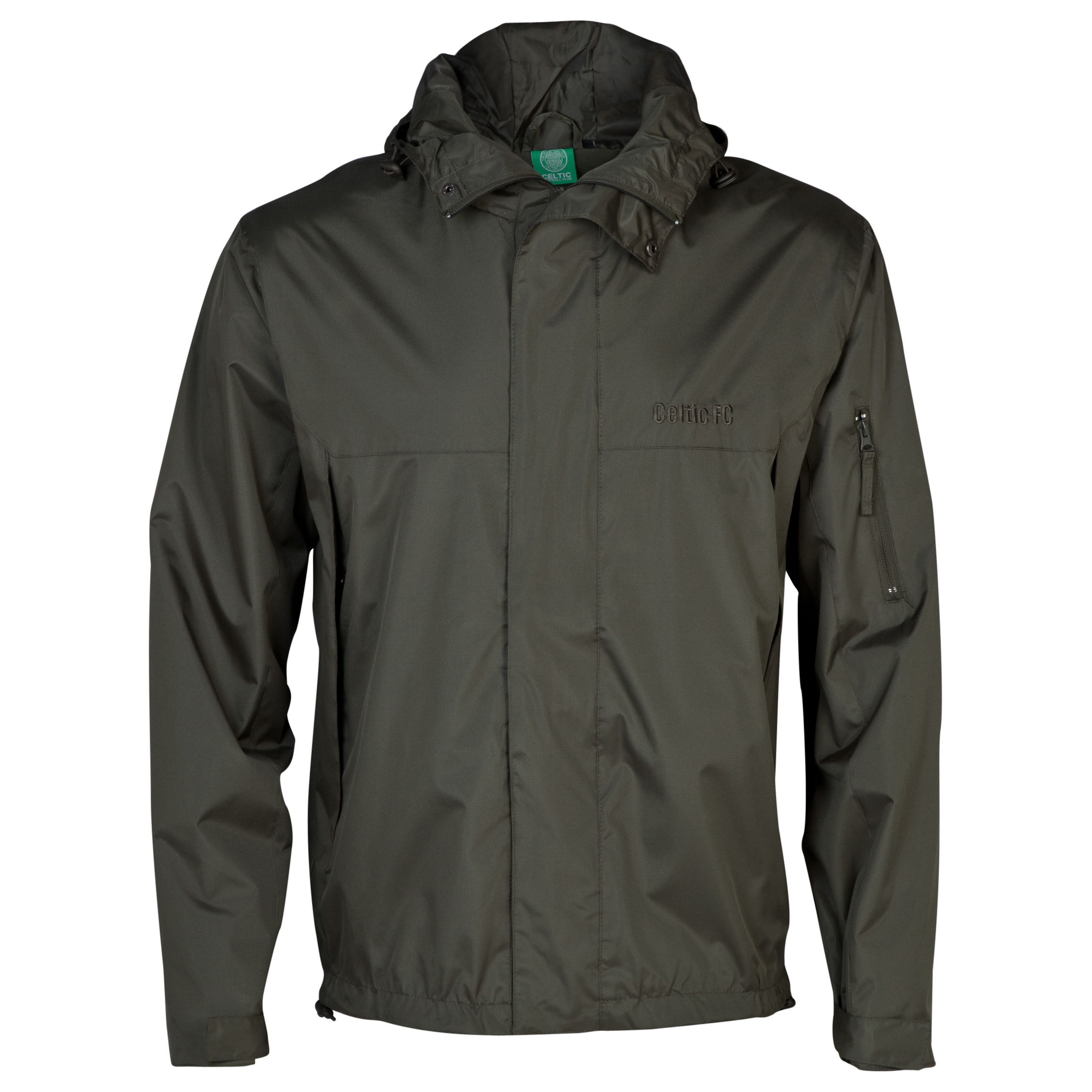 Celtic Essentials Hooded 1/2 Fleece Jacket - Mens Dk Green