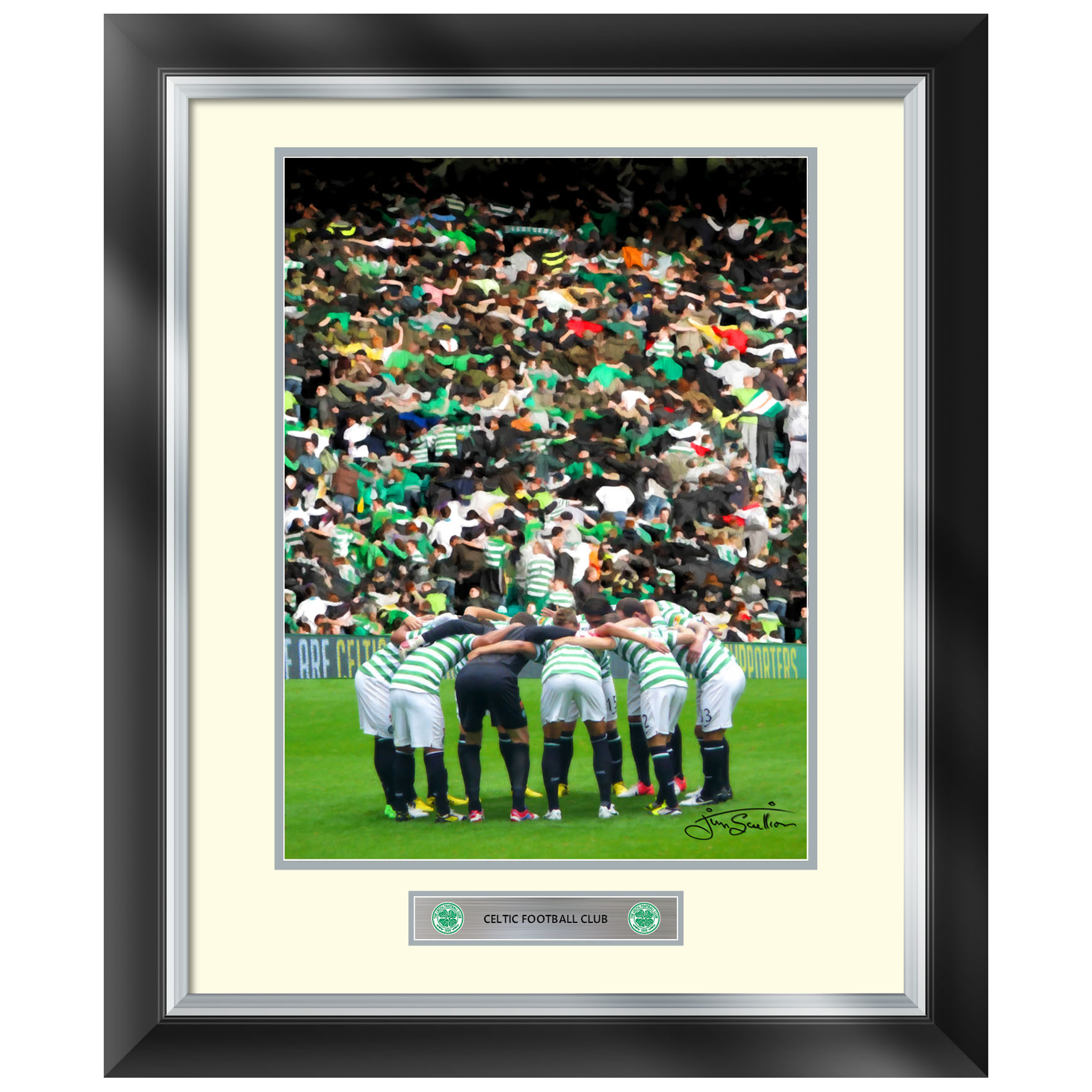 Celtic Huddle Painted Mounted Print - Framed