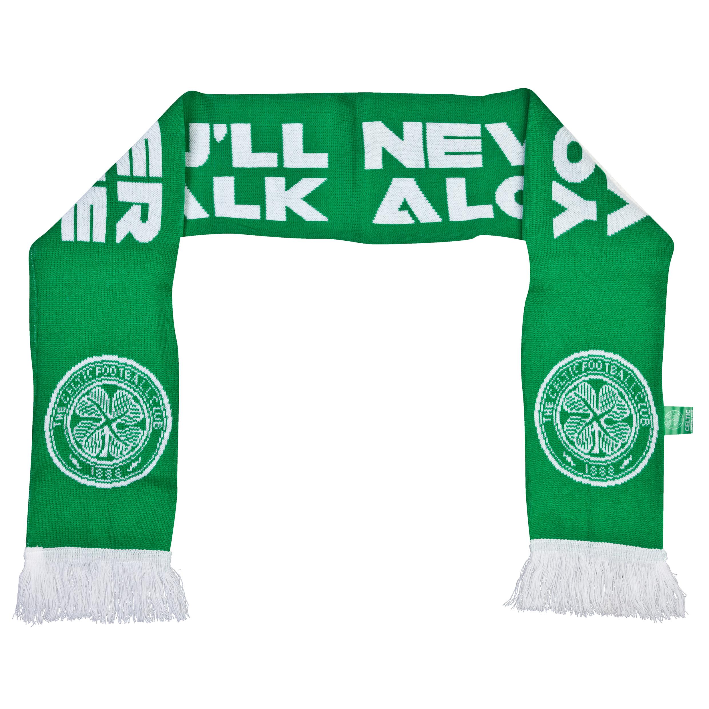 Celtic YNWA Scarf - Adult Green