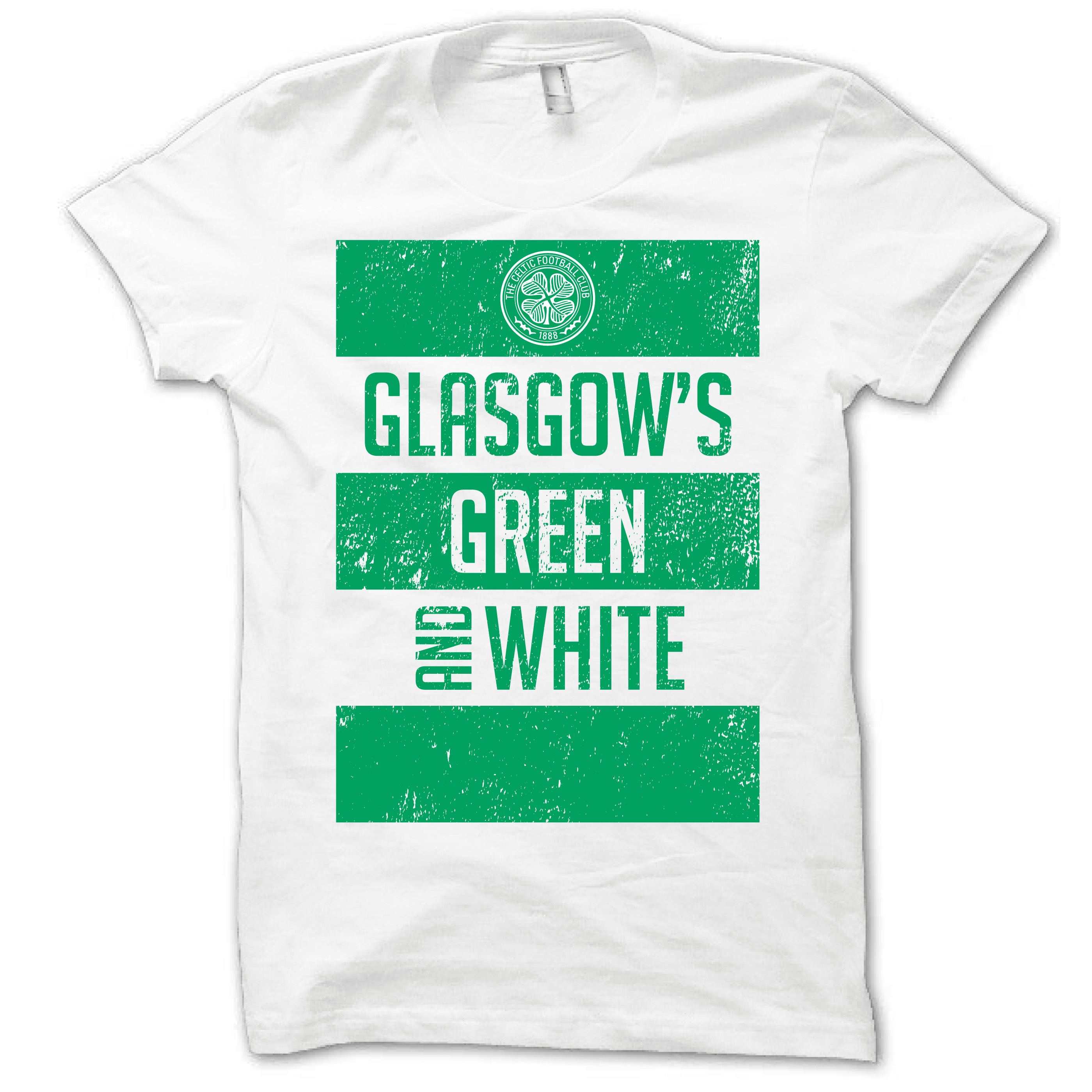 Celtic 2013 Glasgows Green and White T-Shirt - Mens White