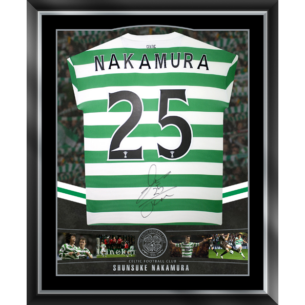 Celtic Limited Edition Nakamura Signed Shirt - Framed