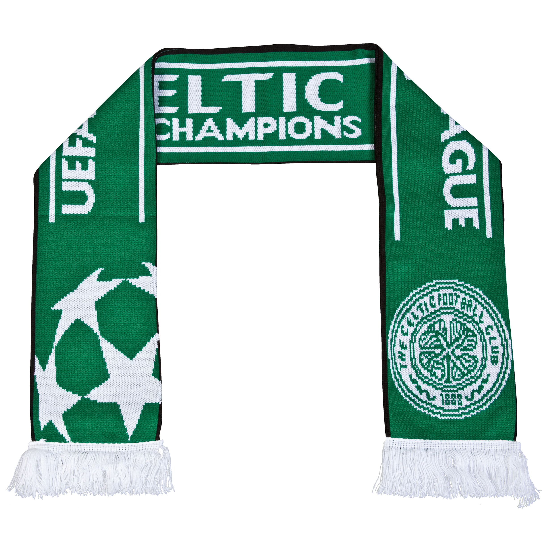 Celtic UEFA Champions League Jacquard Scarf - Green Green