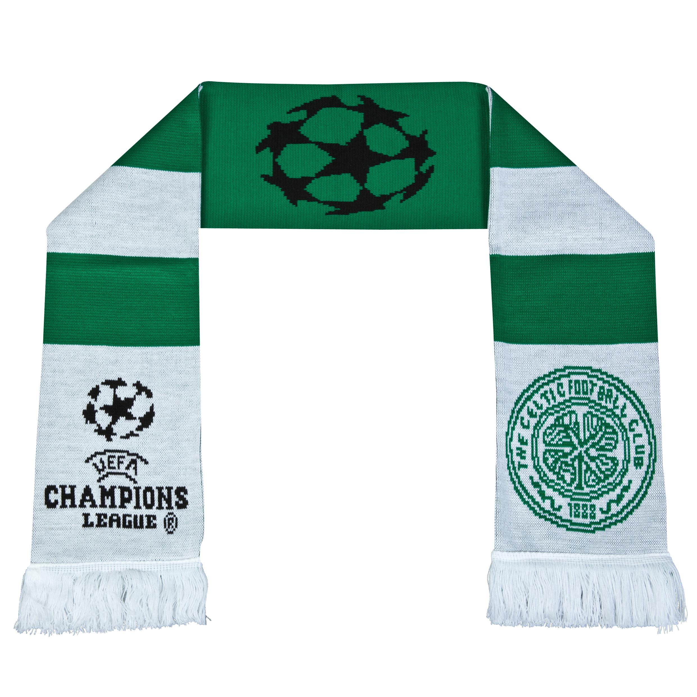 Celtic UEFA Champions League Retro Bar Scarf - Green/White