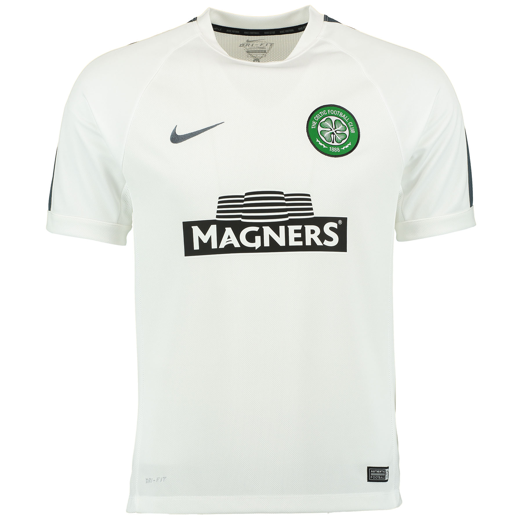 Celtic Squad Short Sleeve Training Top White