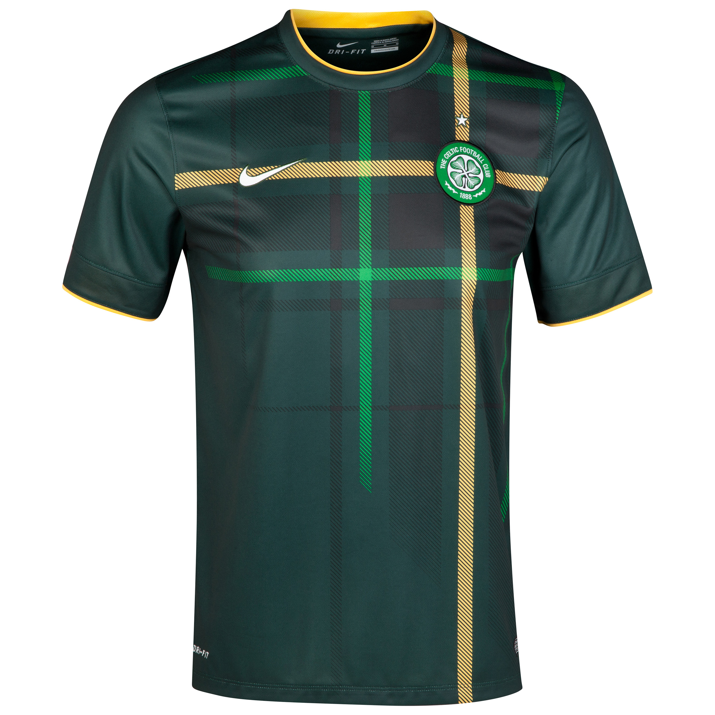 Celtic Away Shirt 2014/15 - Unsponsored Green