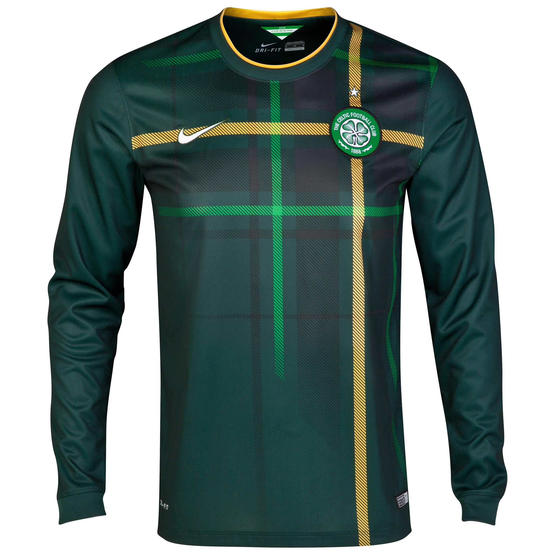 Celtic Away Shirt 2014/15 - Long Sleeved - Unsponsored Green
