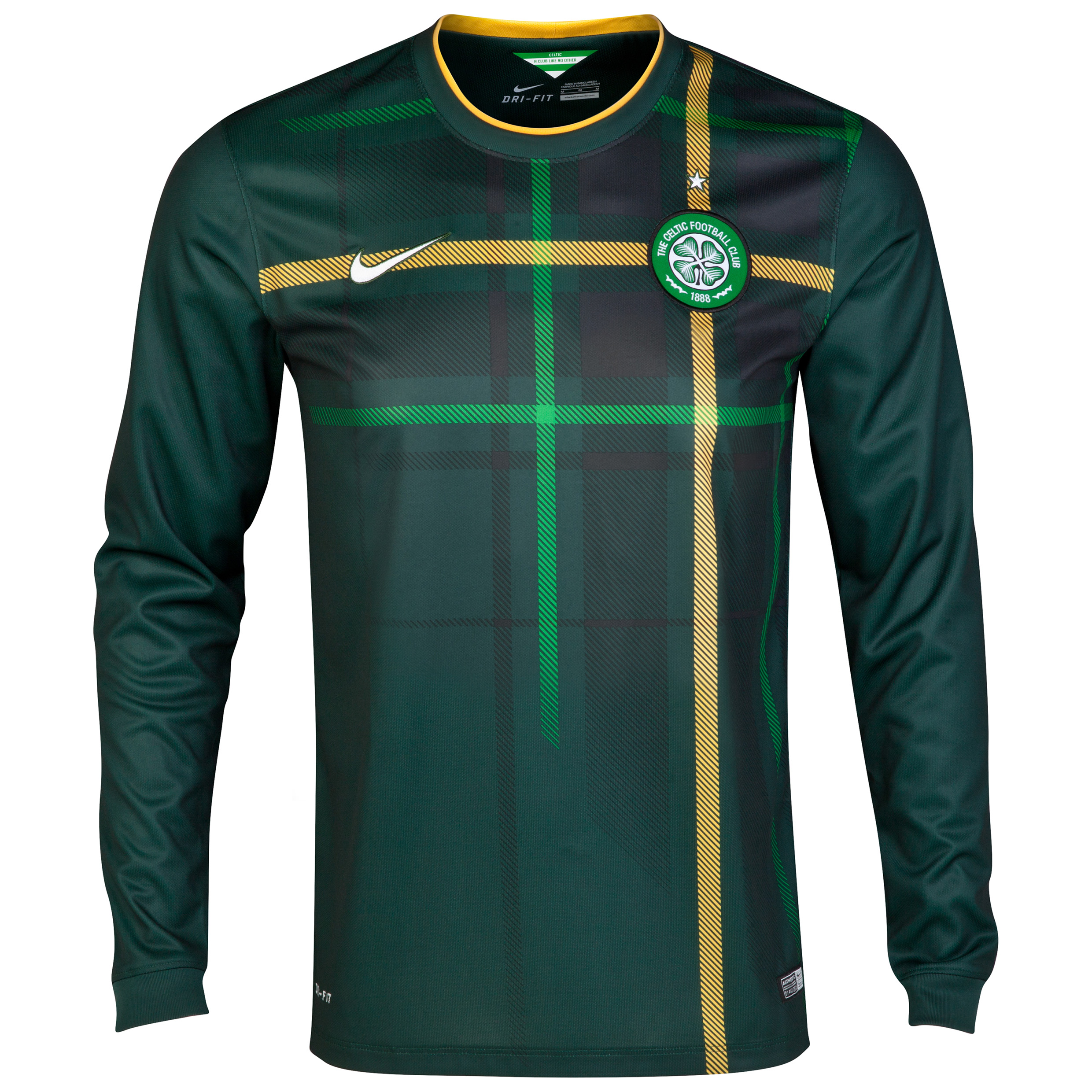 Celtic Away Shirt 2014/15 - Long Sleeved - Unsponsored Green
