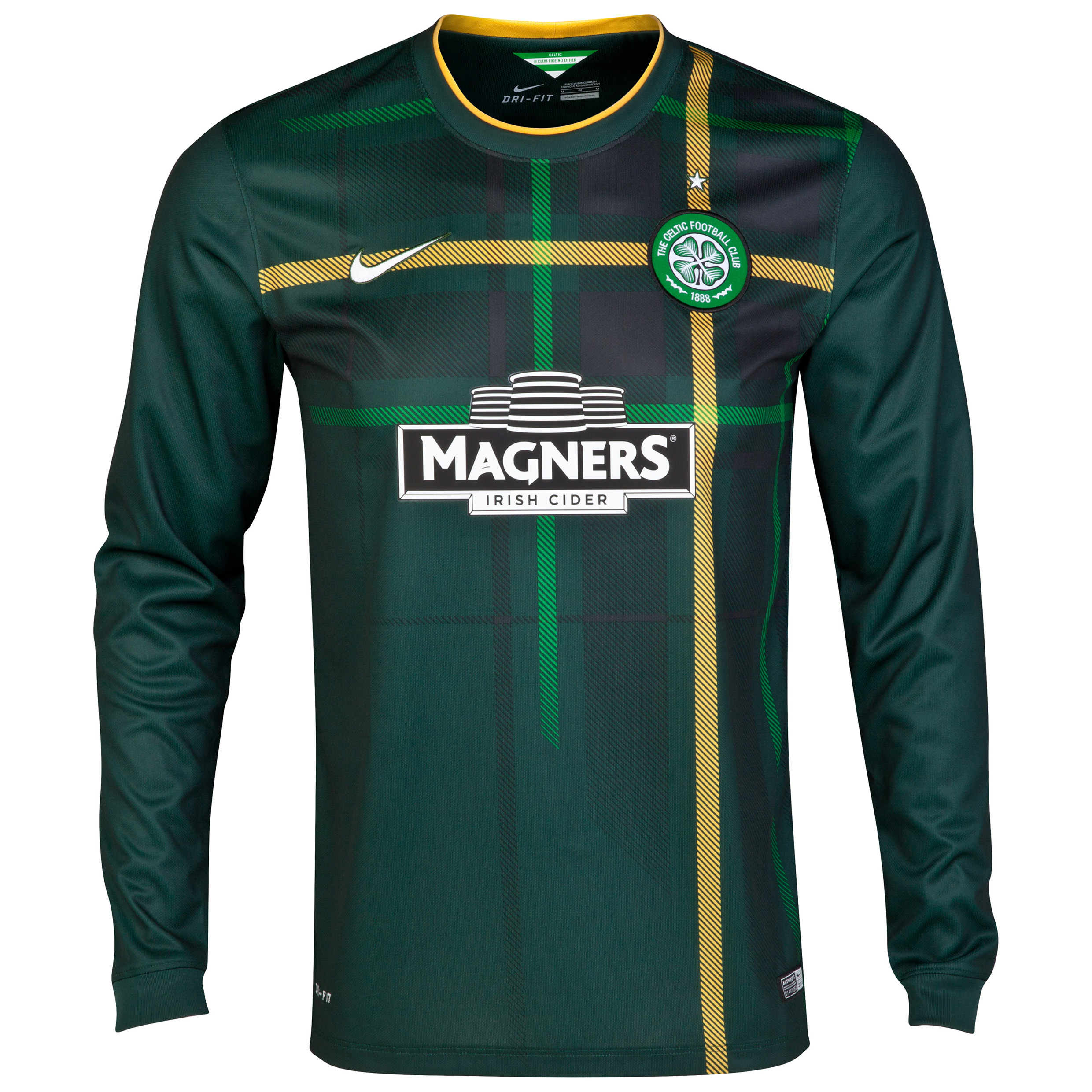 Celtic Away Shirt 2014/15 - Long Sleeved - With Sponsor Green