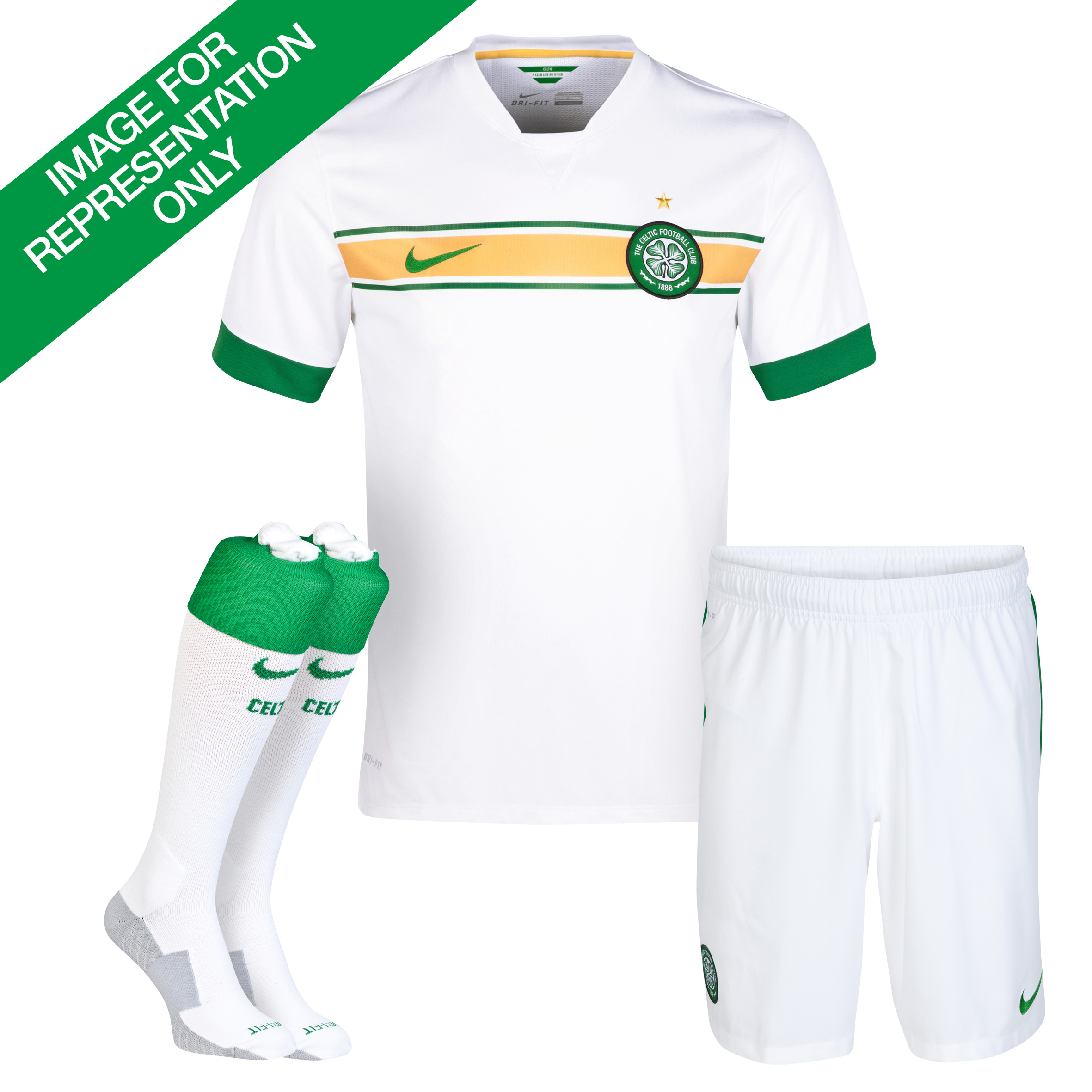 Celtic 3rd Kit 2014/15 - Little Boys White