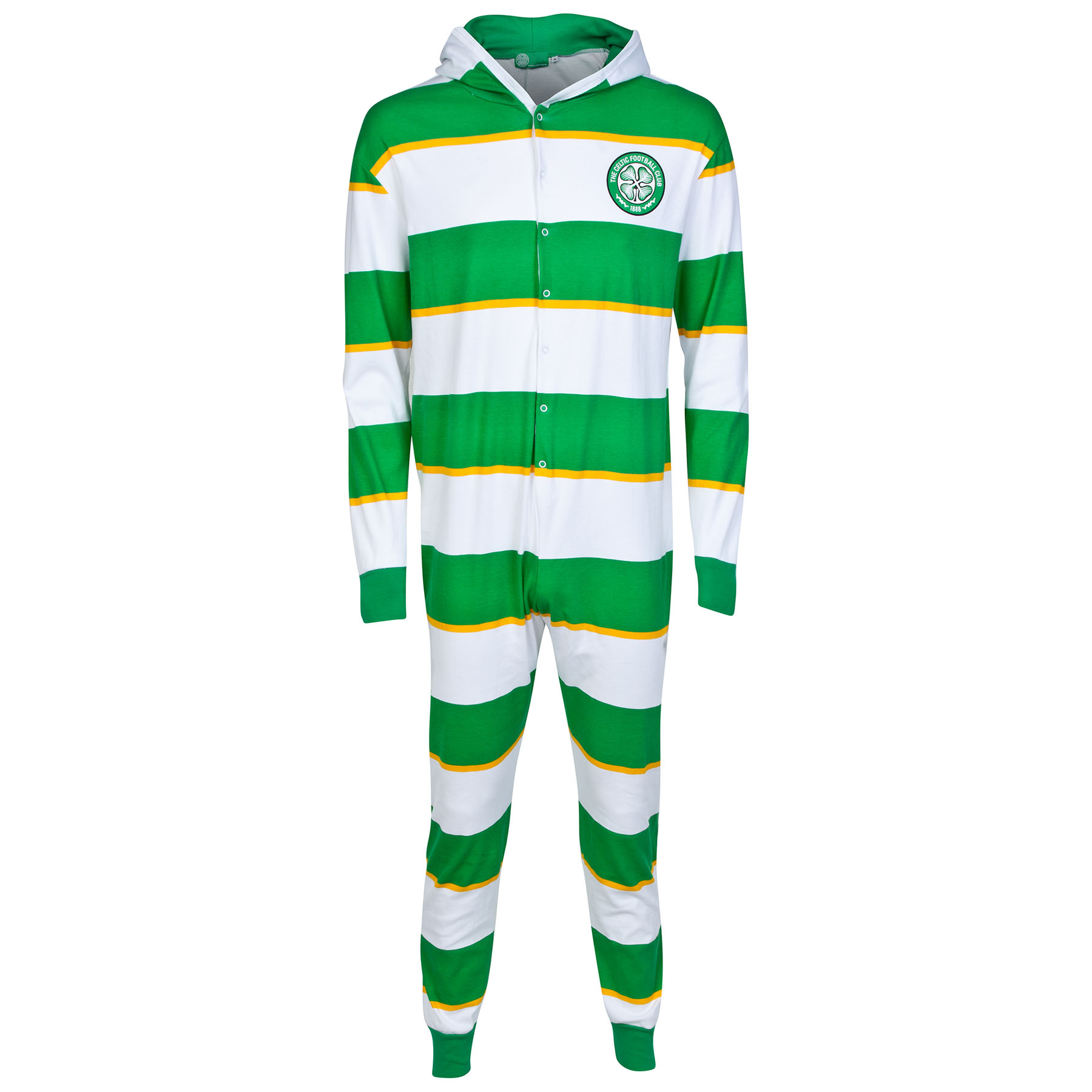 Celtic Hooped Gold Stripe Onesie - Green - Kids