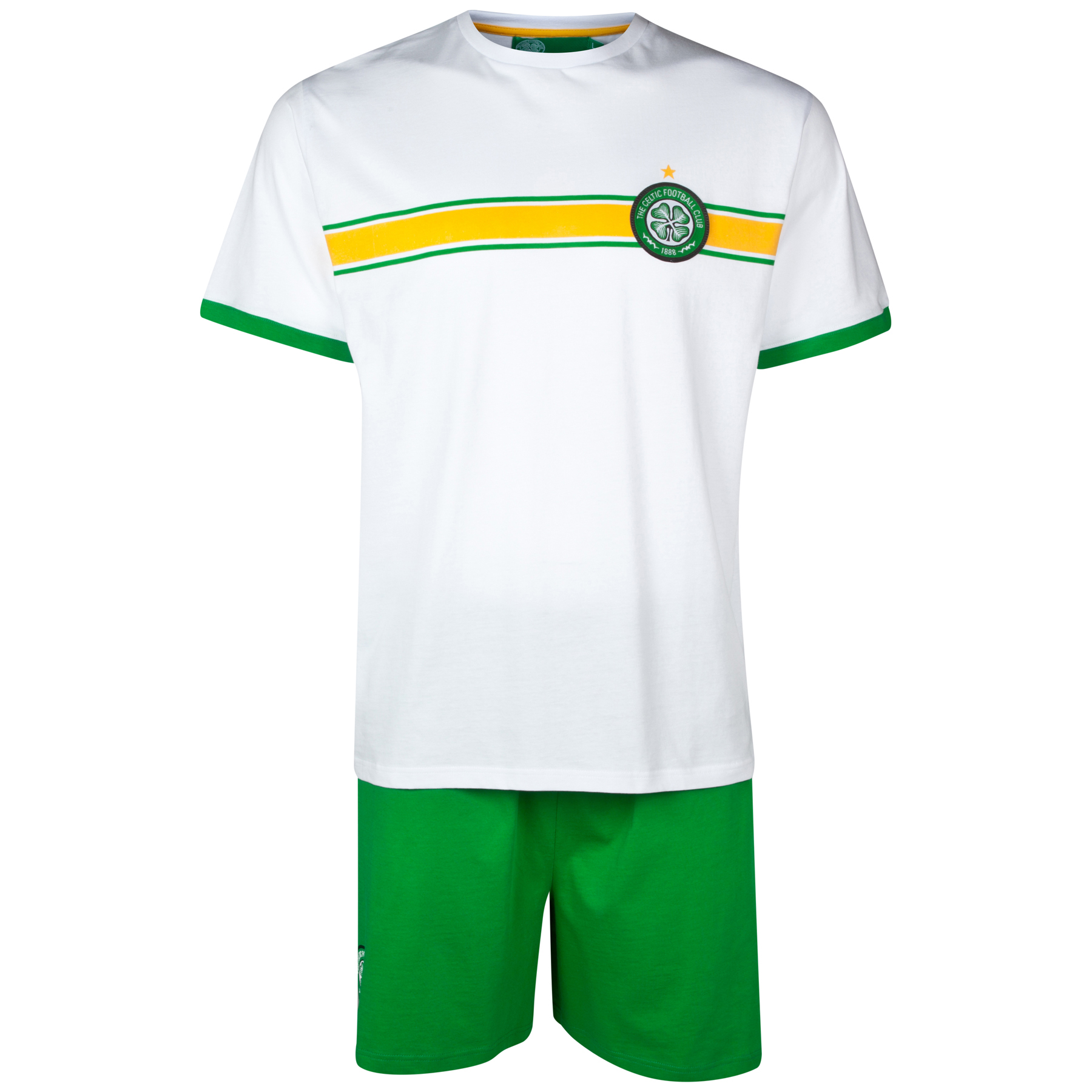 Celtic Kit Short Pyjamas - White/Green - Mens