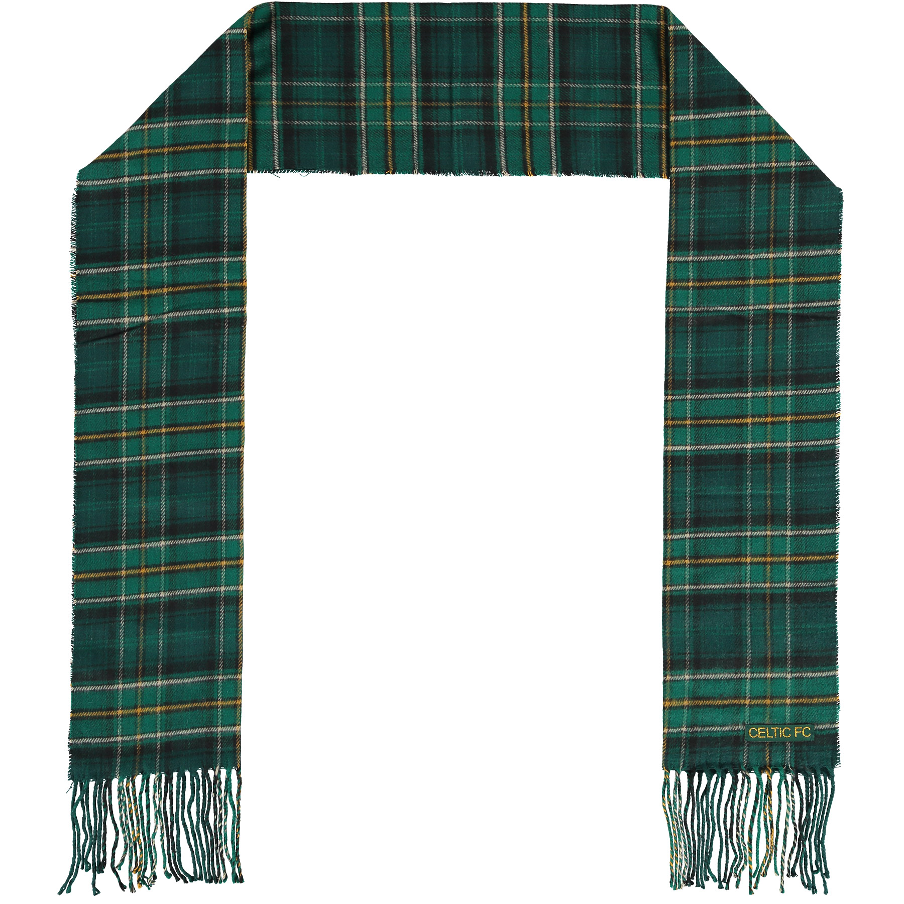 Celtic Tartan Scarf - Green - Adult