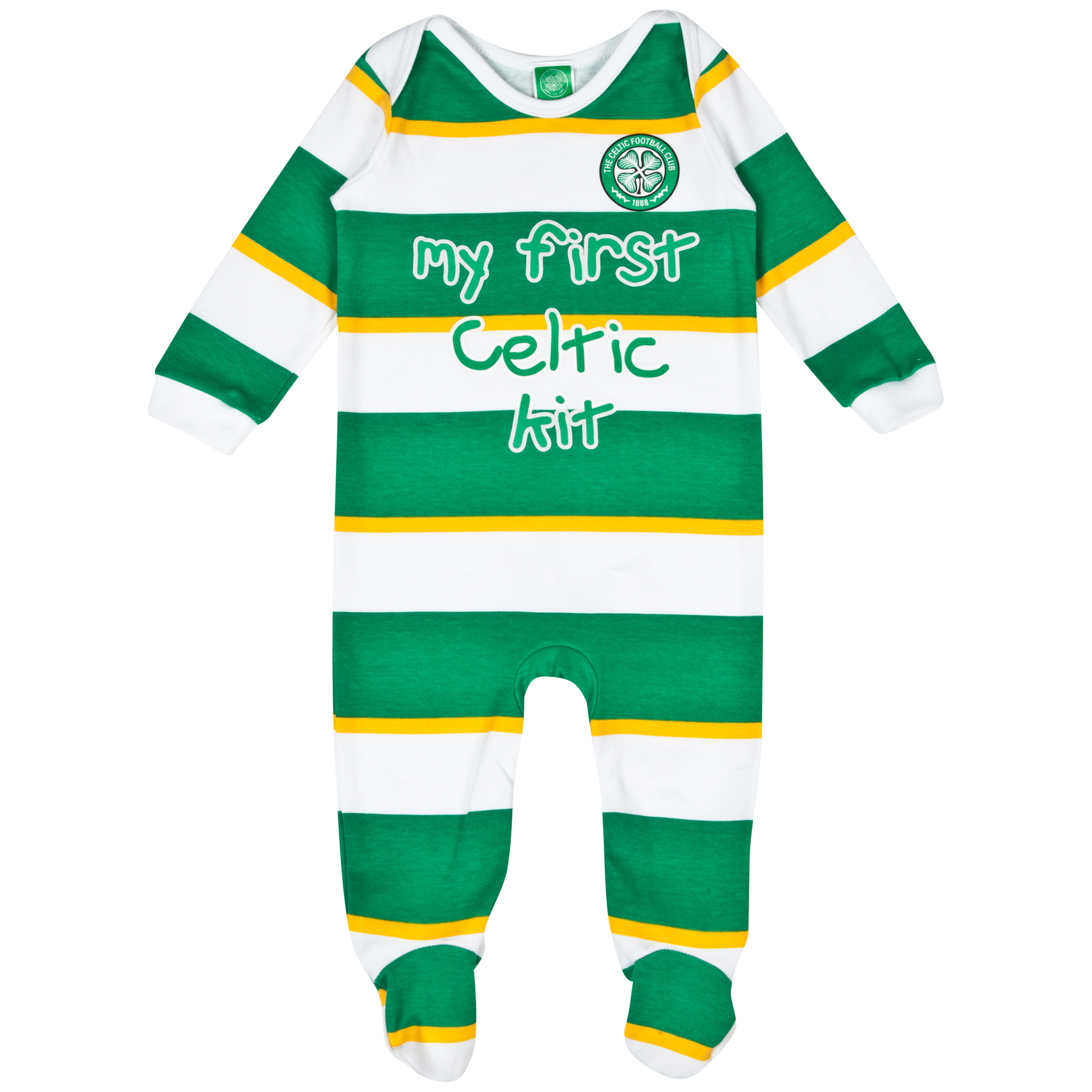 Celtic My First Sleepsuit - Green/White/Gold - Baby Boys