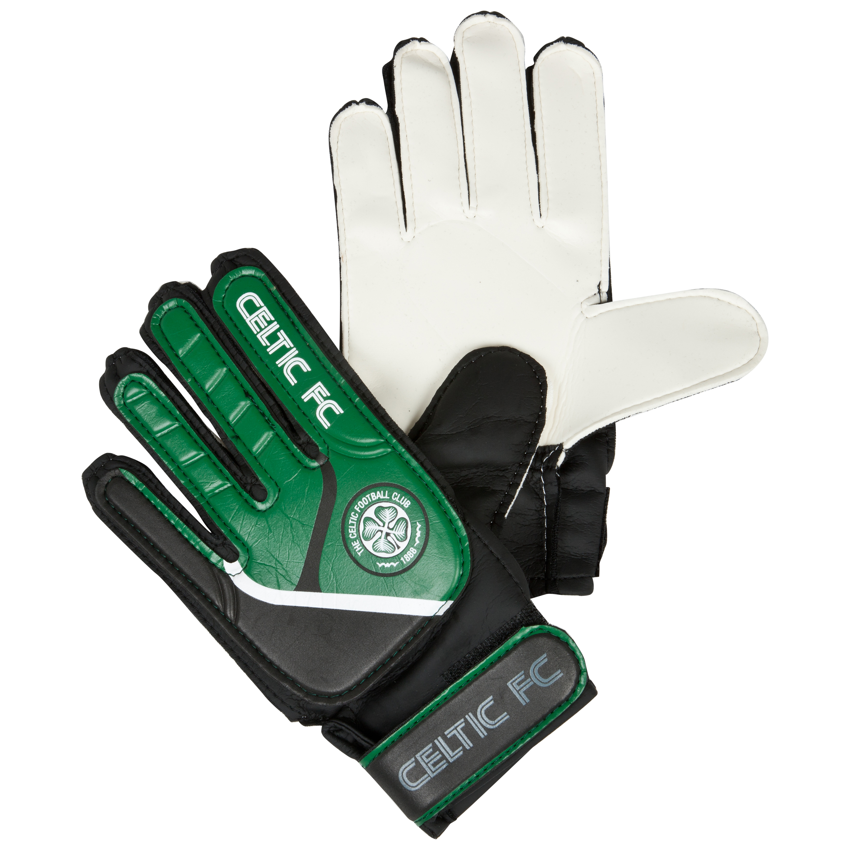 Celtic Goalkeeper Gloves - Grey/Green - Kids
