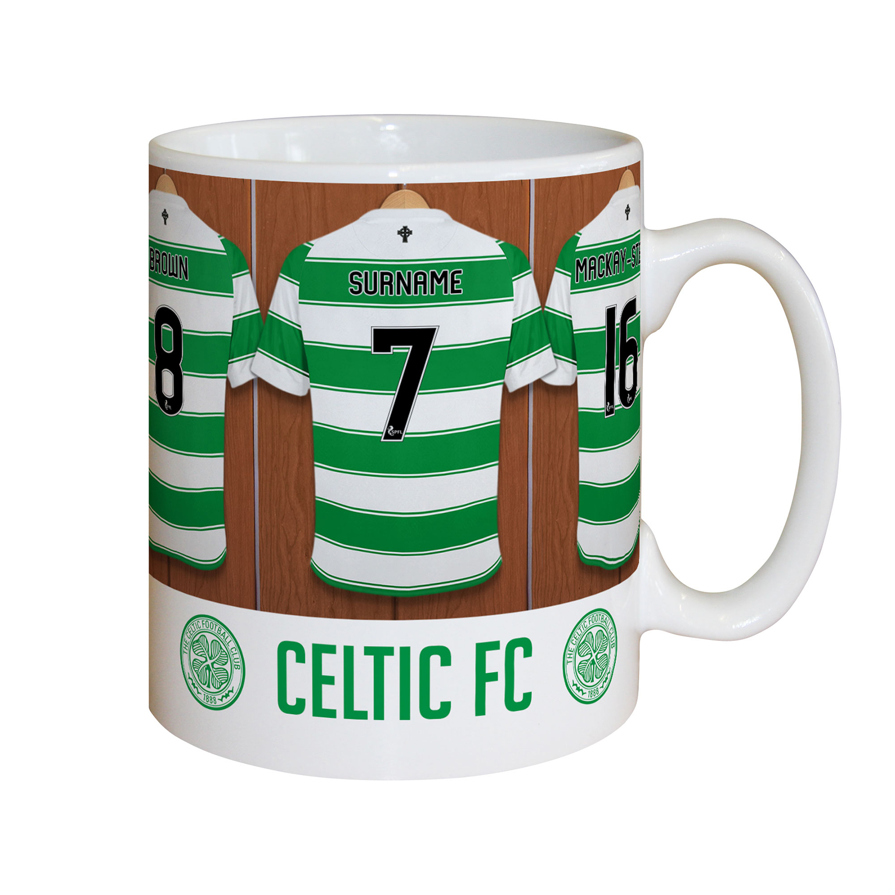 Celtic Personalised Dressing Room Mug