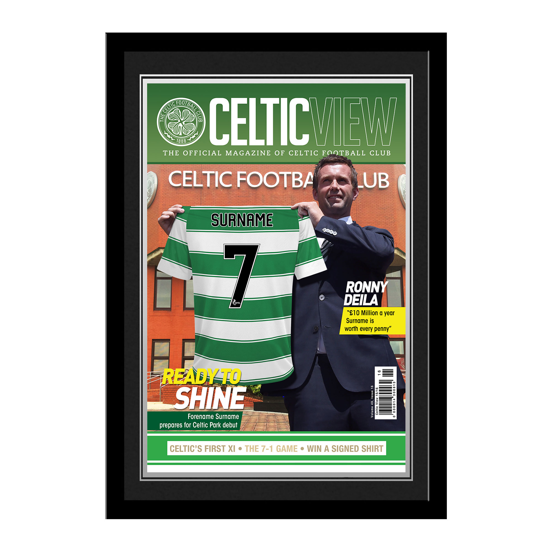 Celtic Personalised Magazine Cover - Framed