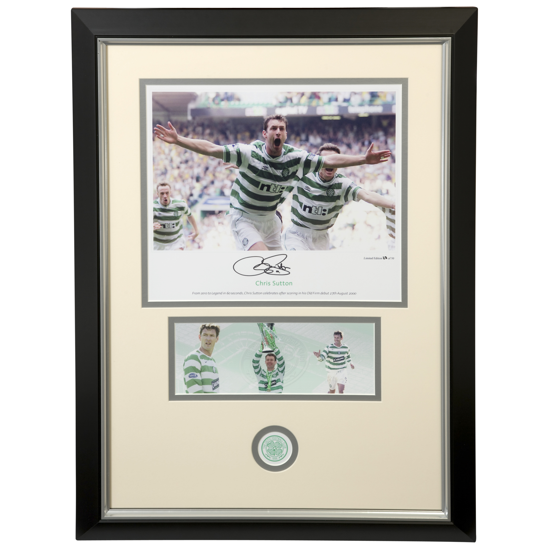 Celtic Limited Edition Hand Signed Celtic Sutton 6-2 Print