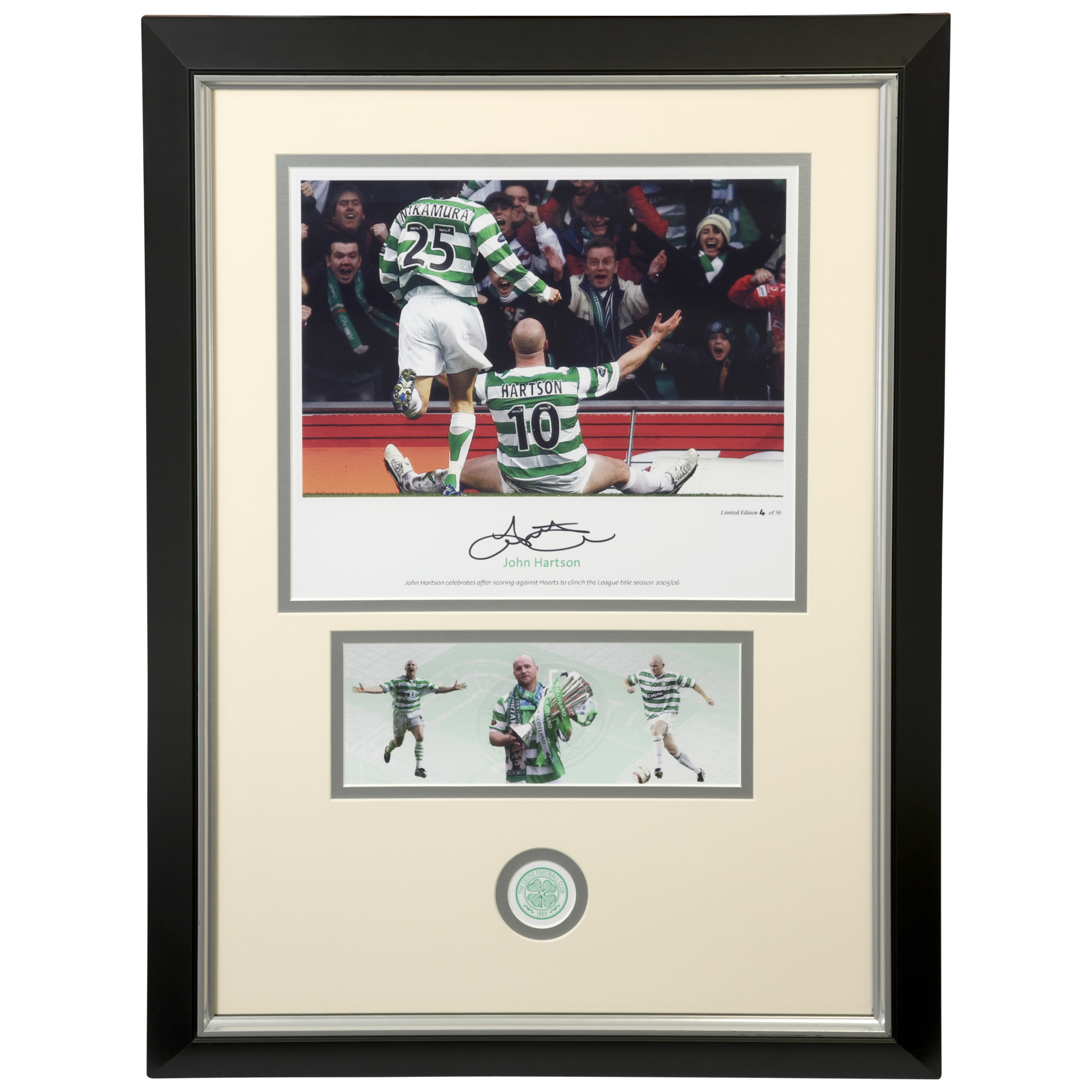 Celtic Limited Edition Hand Signed Celtic Hartson Hearts Print