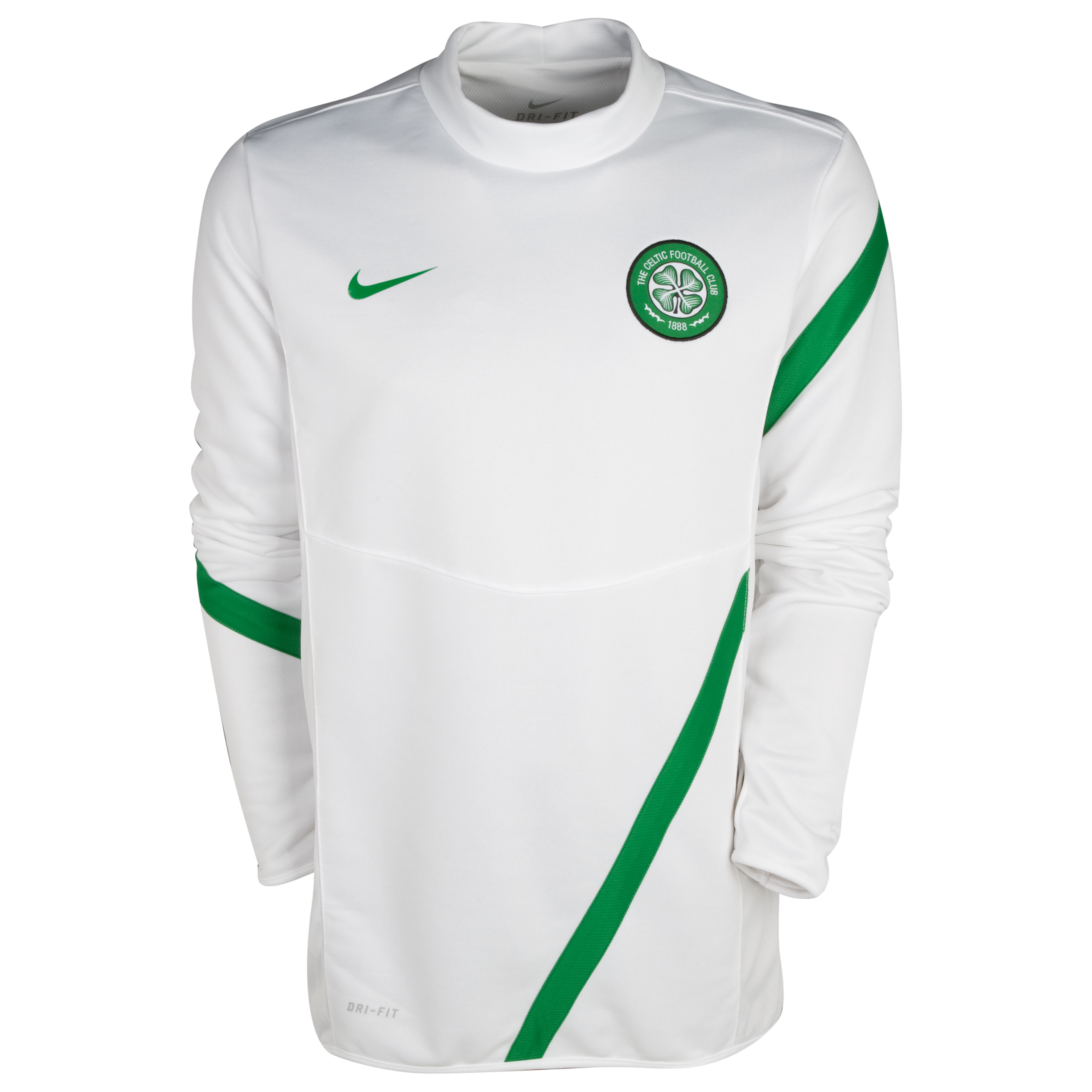 Celtic Midlayer Top - White/Victory Green/Victory Green