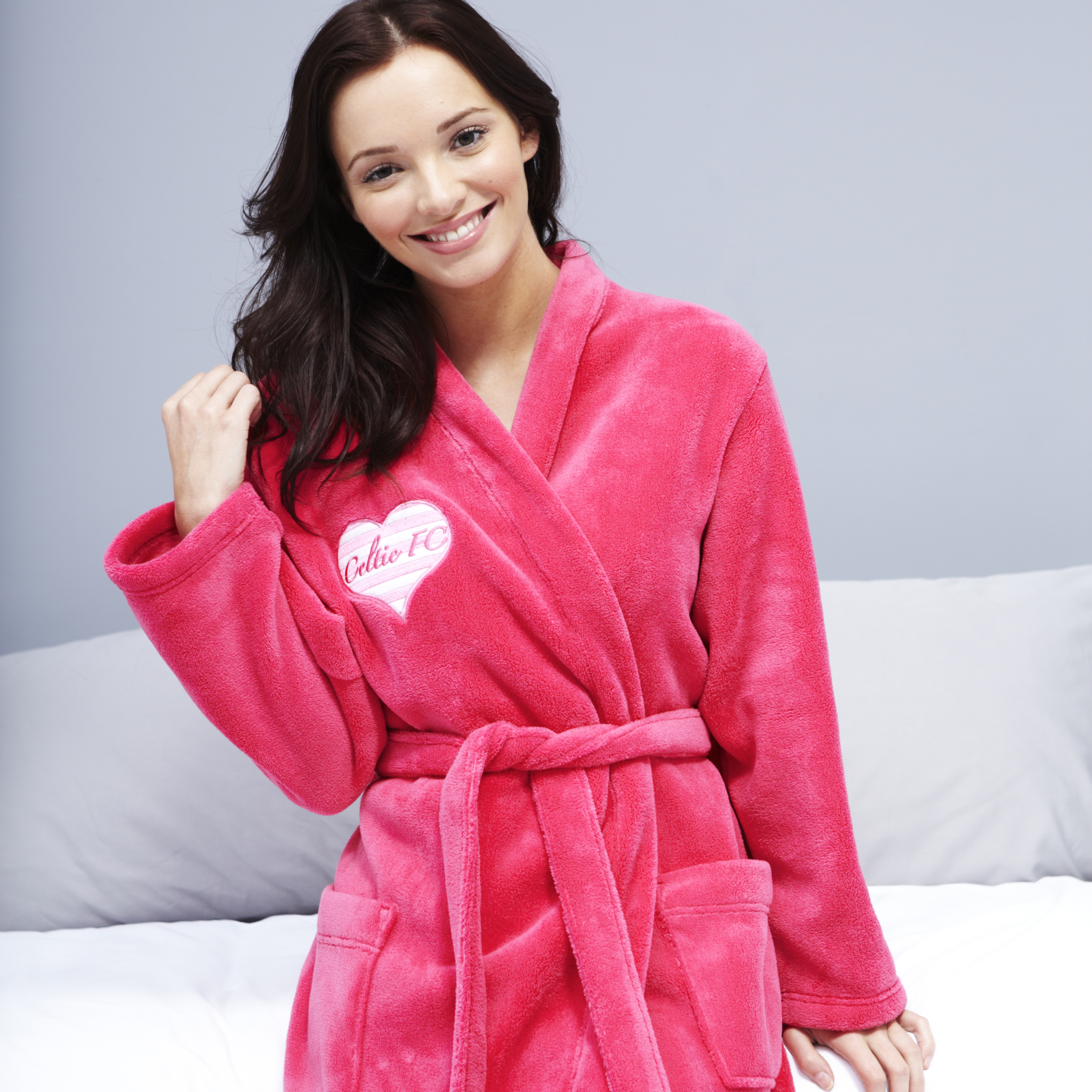 Celtic Heart Robe - Hot Pink - Womens