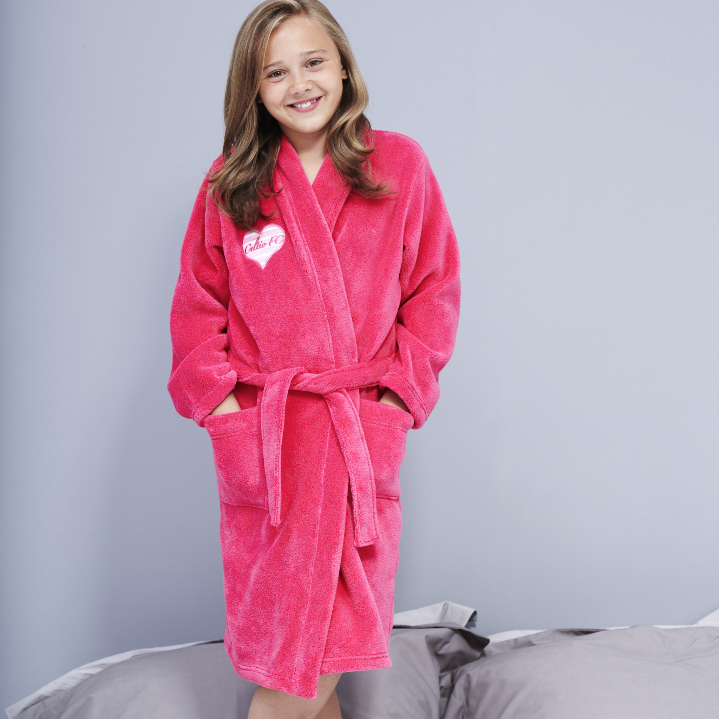 Celtic Heart Robe - Hot Pink - Girls