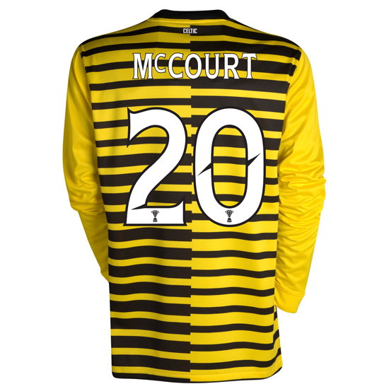 Celtic International Away Shirt 2011/12 - Long Sleeved - Kids With Mccourt 20 Printing