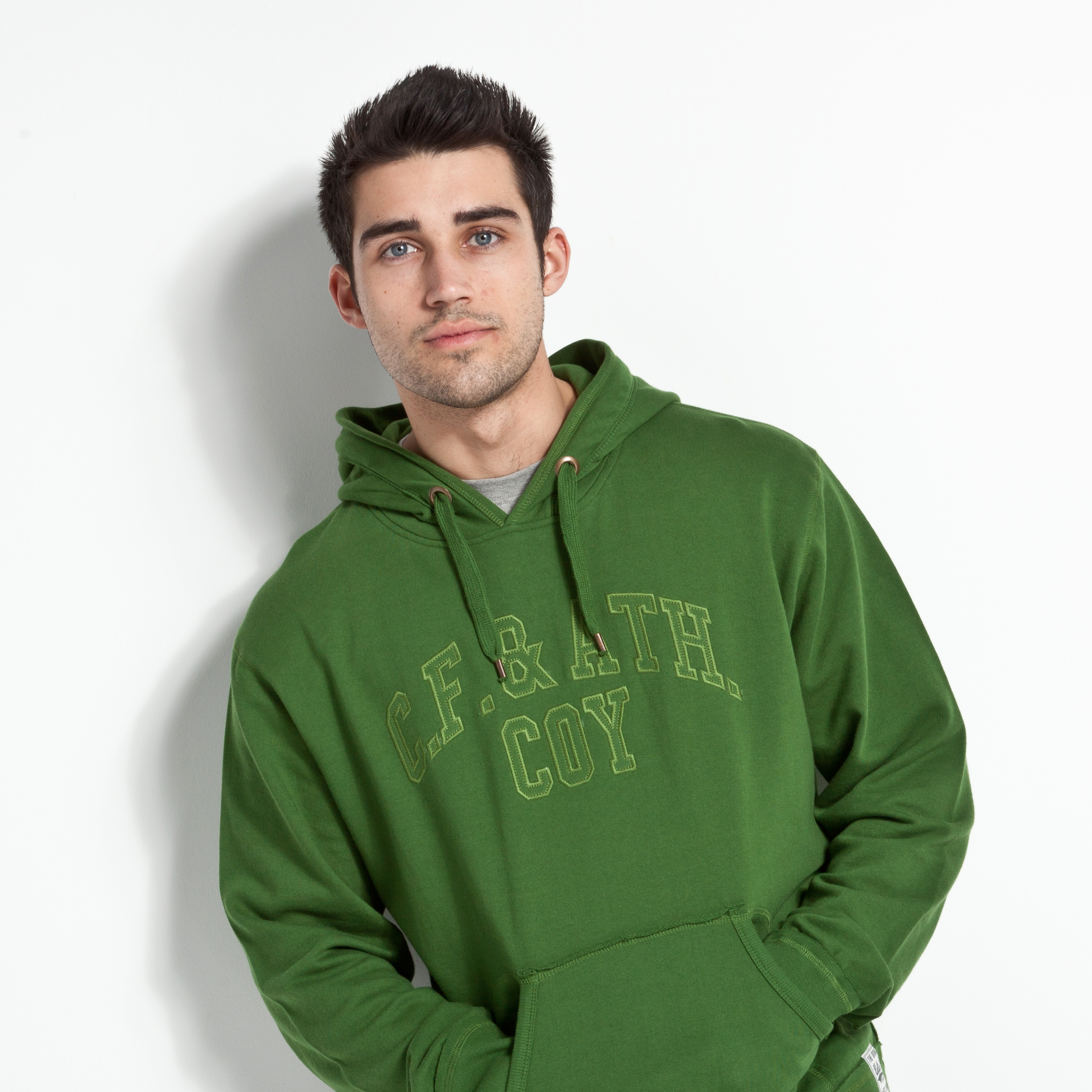 Celtic Heritage Applique Hoody - Moss Green
