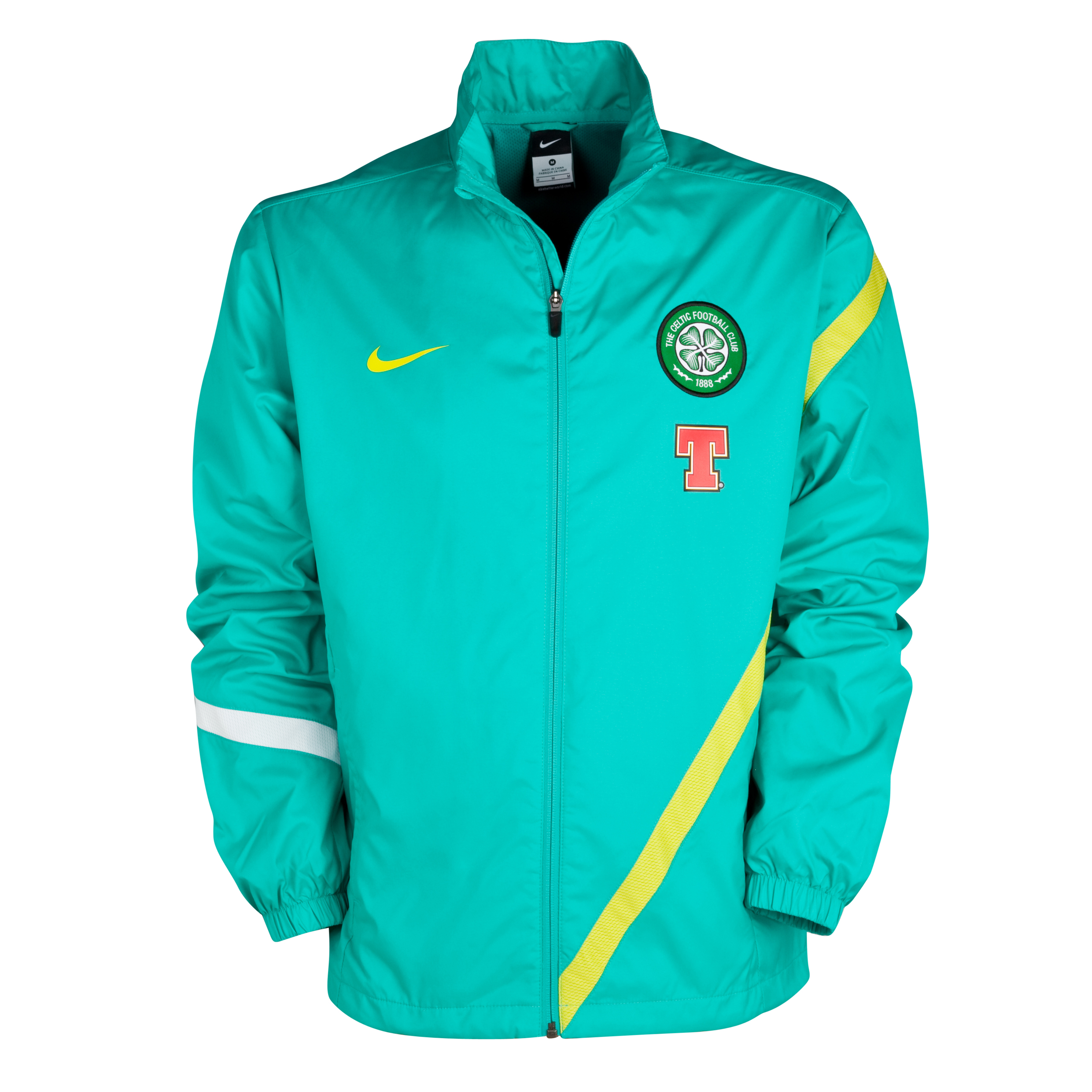 Celtic Sideline Warm Up Jacket - New Green/High Voltage/High Voltage