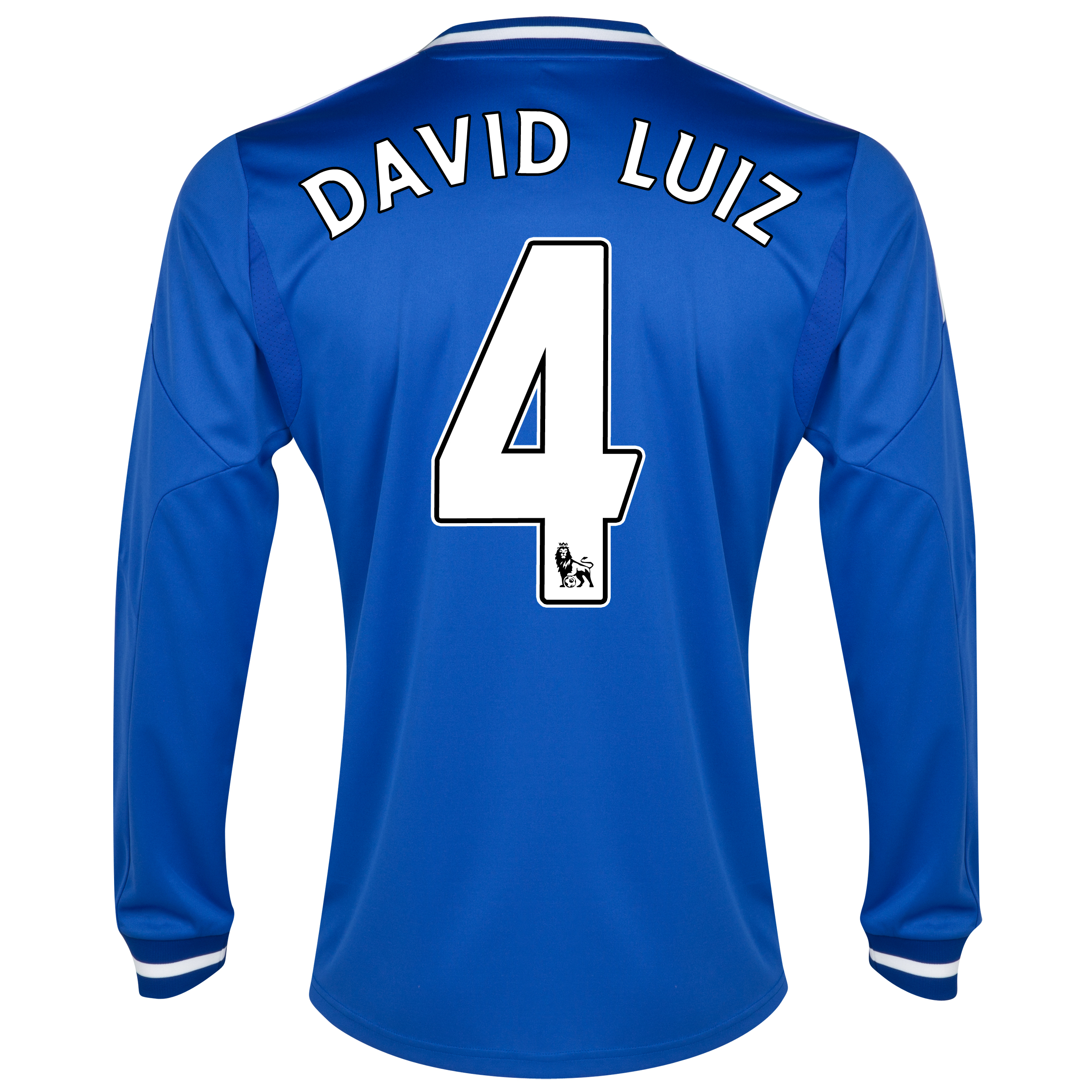 Chelsea Home Shirt 2013/14 - Long Sleeve with David Luiz 4 printing