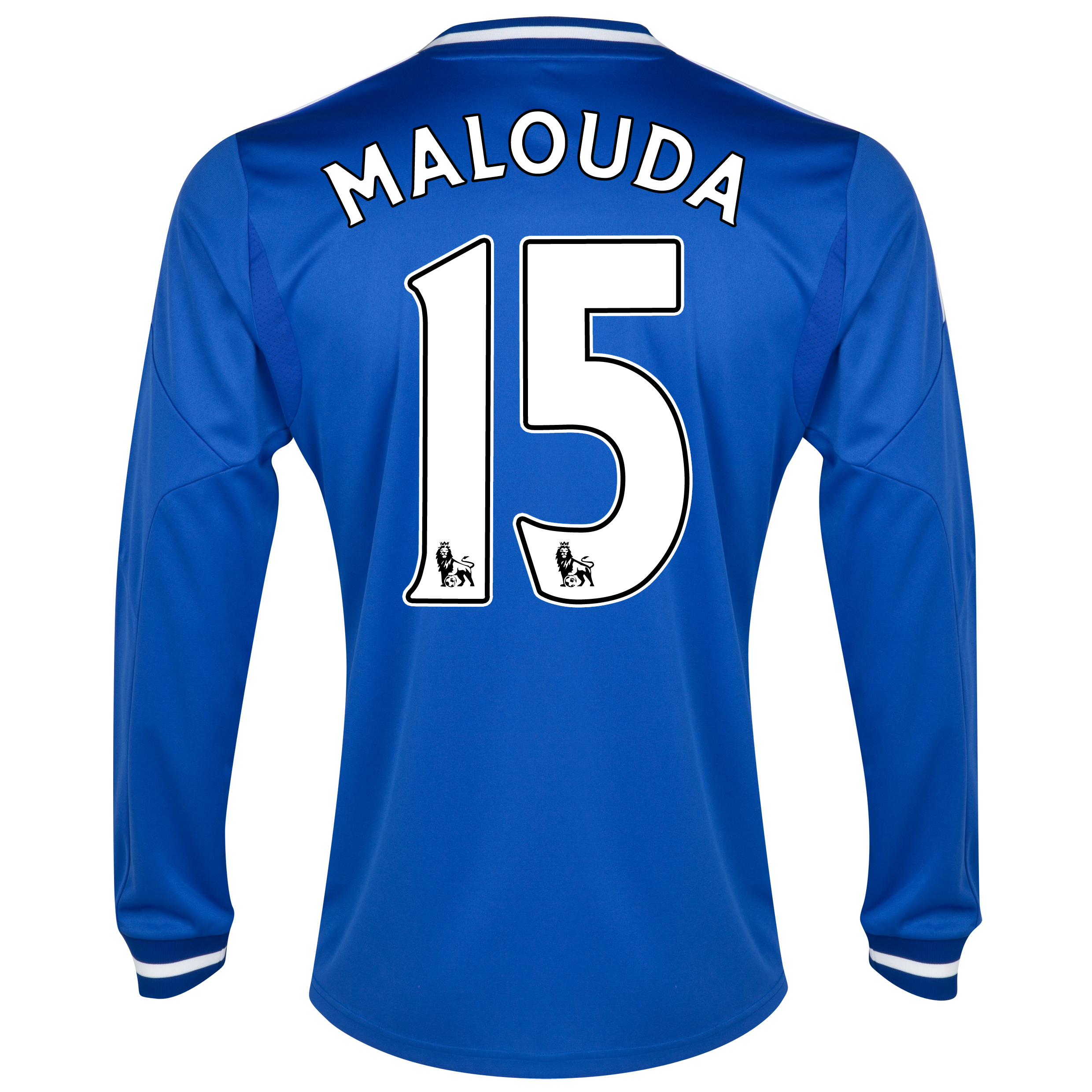 Chelsea Home Shirt 2013/14 - Long Sleeve with Malouda 15 printing