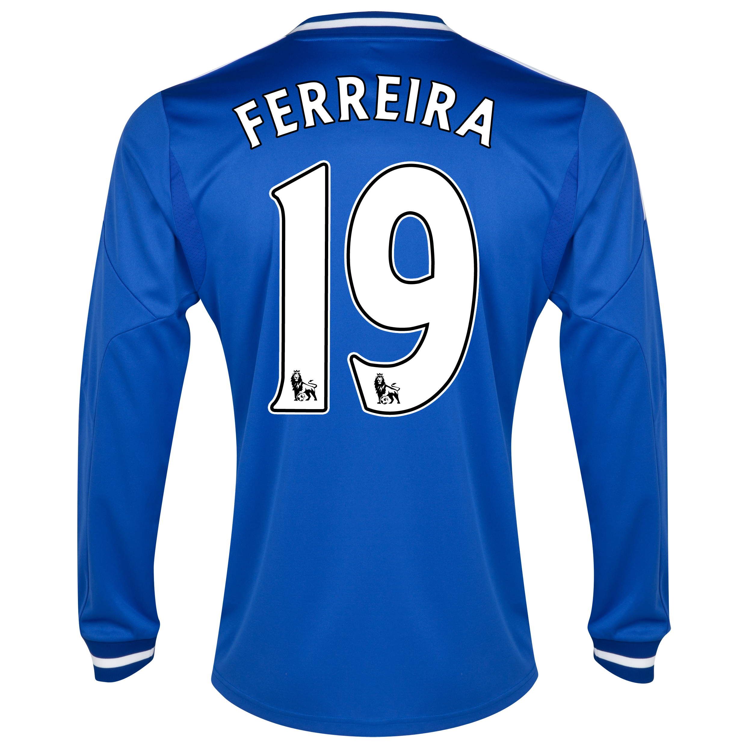 Chelsea Home Shirt 2013/14 - Long Sleeve with Ferreira 19 printing