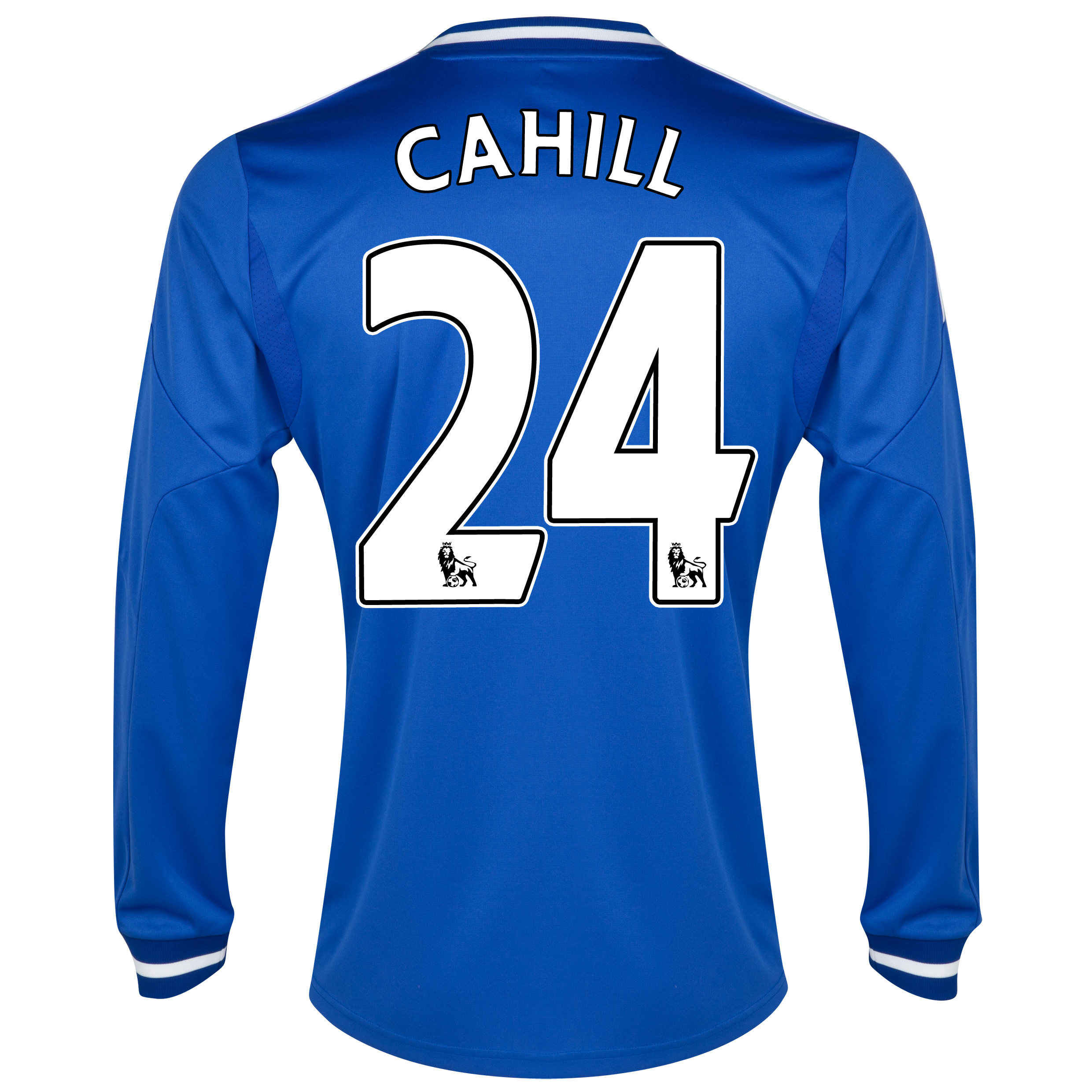 Chelsea Home Shirt 2013/14 - Long Sleeve with Cahill 24 printing