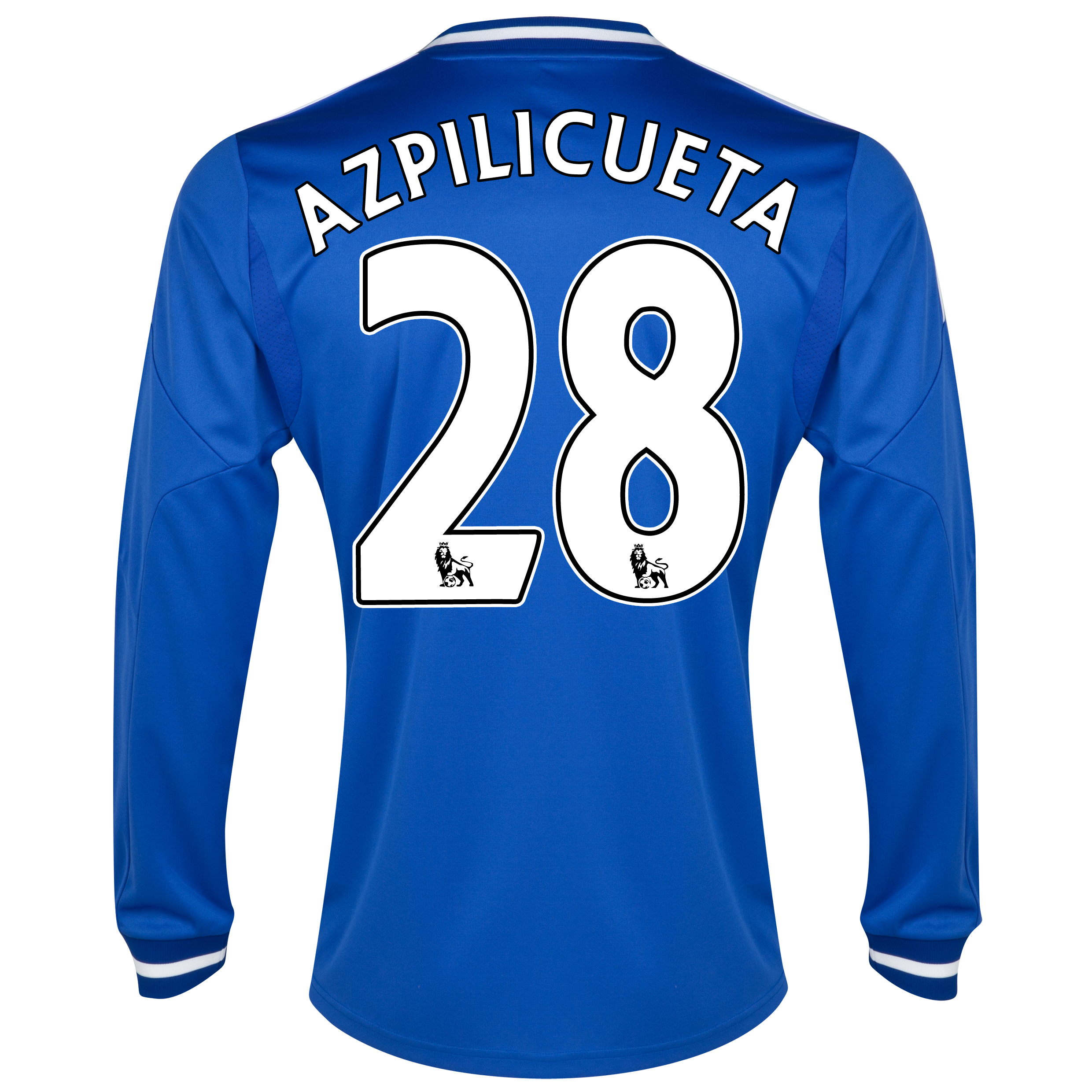 Chelsea Home Shirt 2013/14 - Long Sleeve with Azpilicueta 28 printing